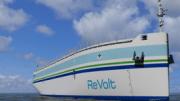 Autonomes Elektrofrachtschiff