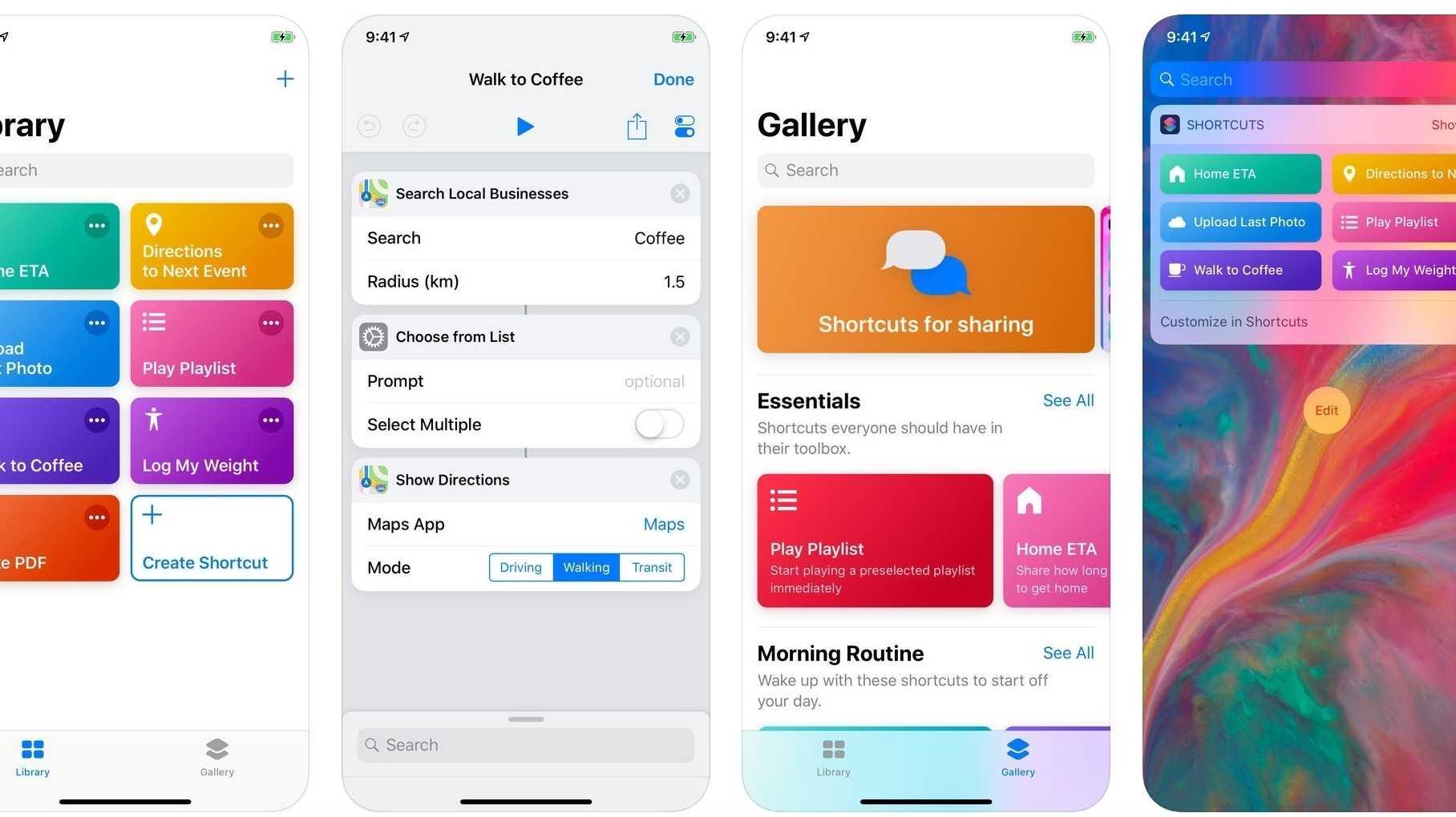 Kurzbefehle-App von Apple