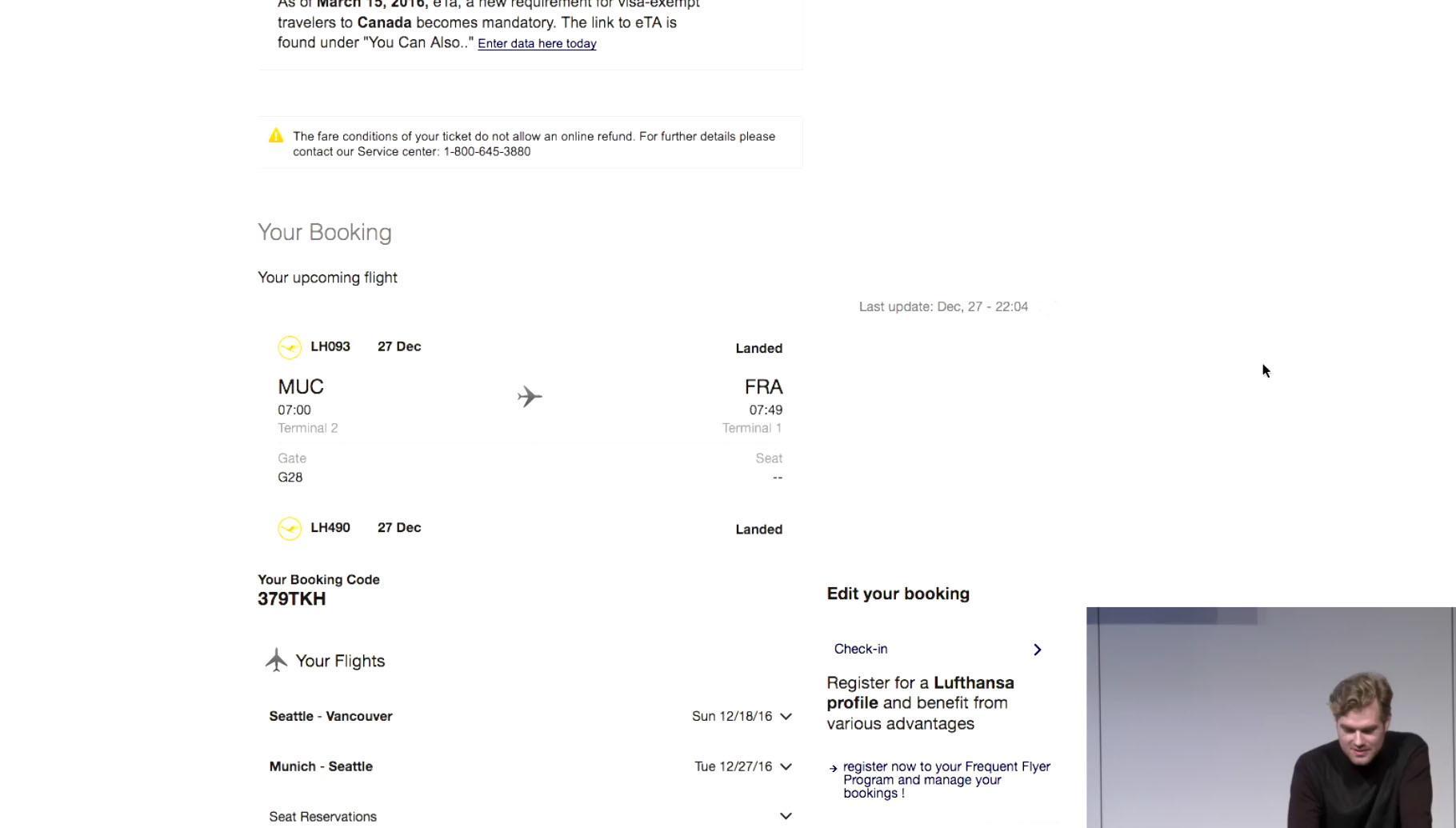 Ein Instagram-Foto, das den BOarding-Pass zeigt, reicht unter Umständen, um einen Flug umzubuchen.
