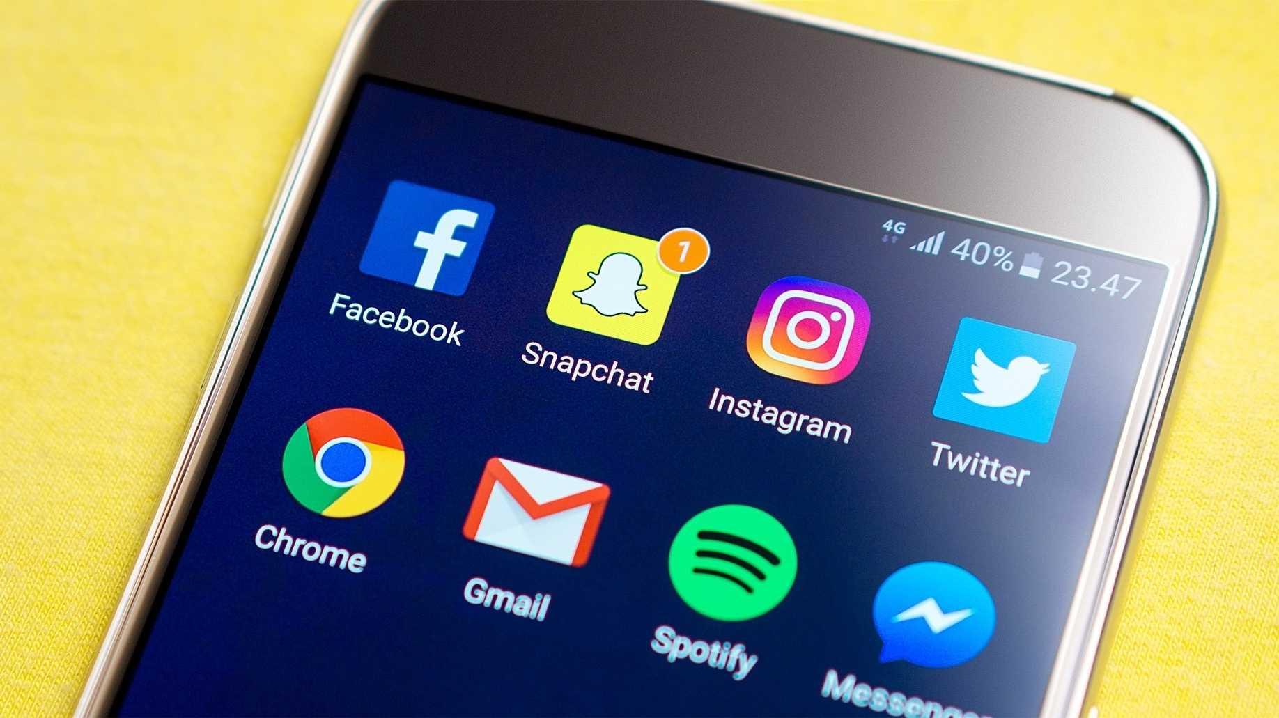 Instagram- und Facebook-App