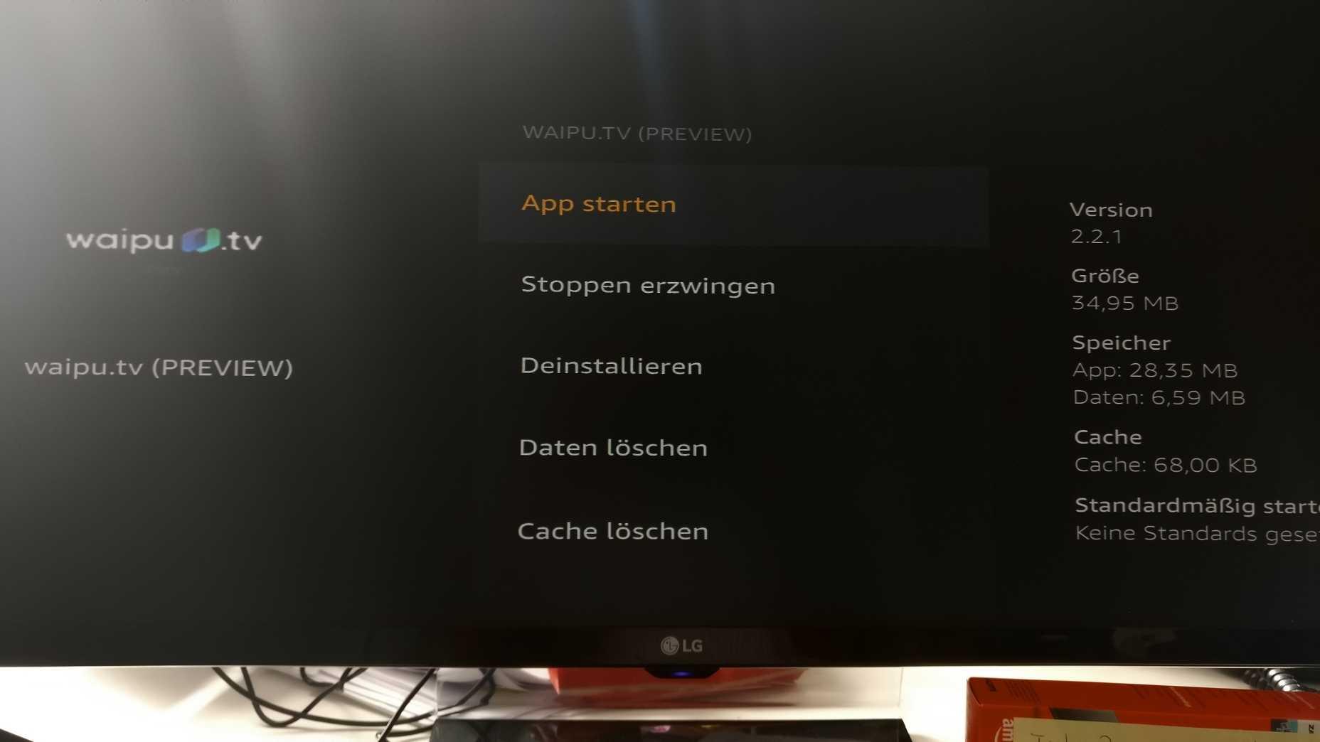 Wir haben die Latenz mit einer Preview-App, die auf einem FireTV vorinstalliert war, ermittelt.