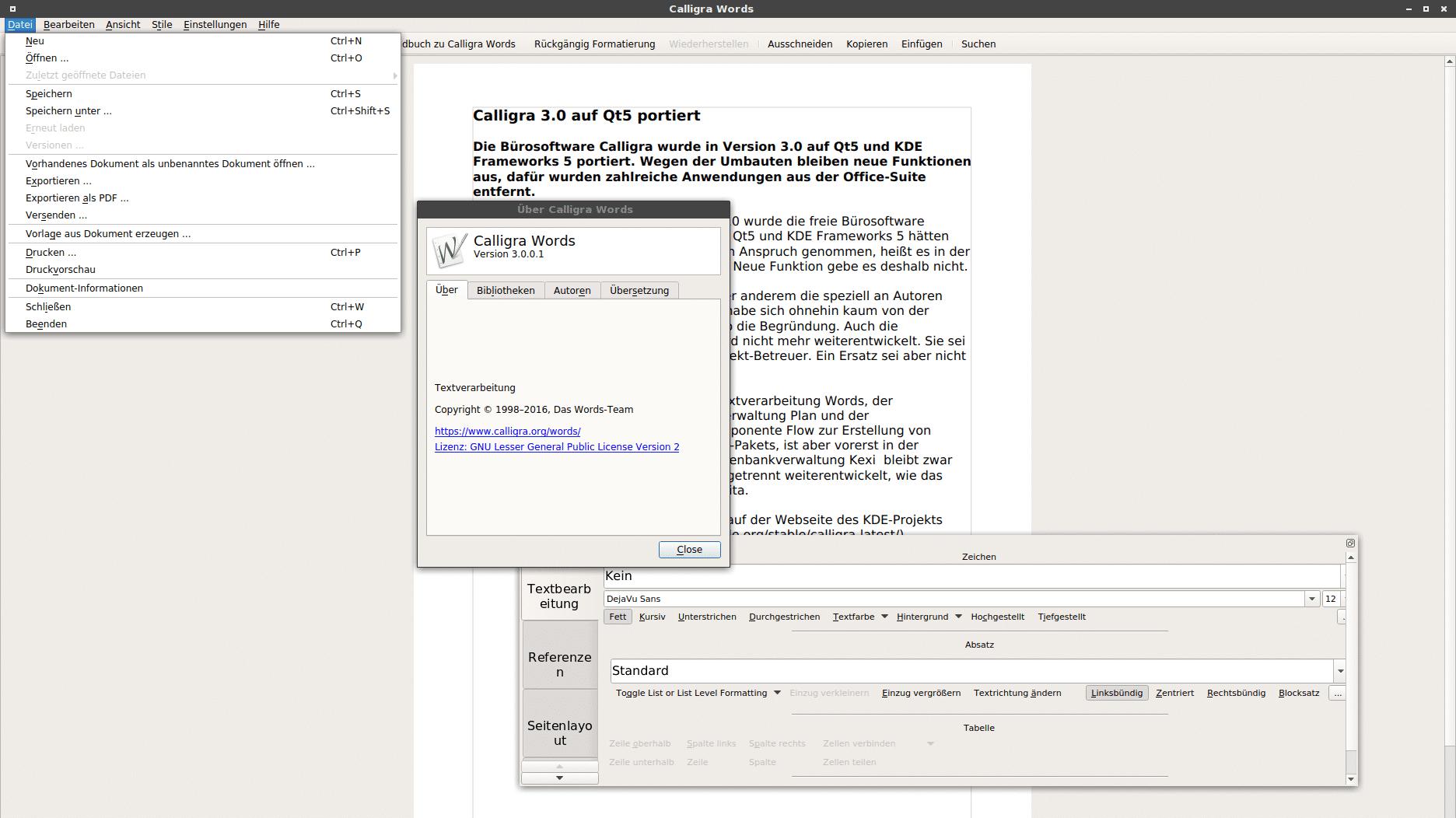 Calligra 3.0