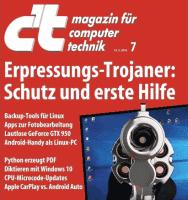 """Lesen Sie dazu auch die Titel-Story """"Erpressungs-Trojaner: Schutz und Erste Hilfe"""" in der aktuellen Ausgabe der c't 7/2016."""