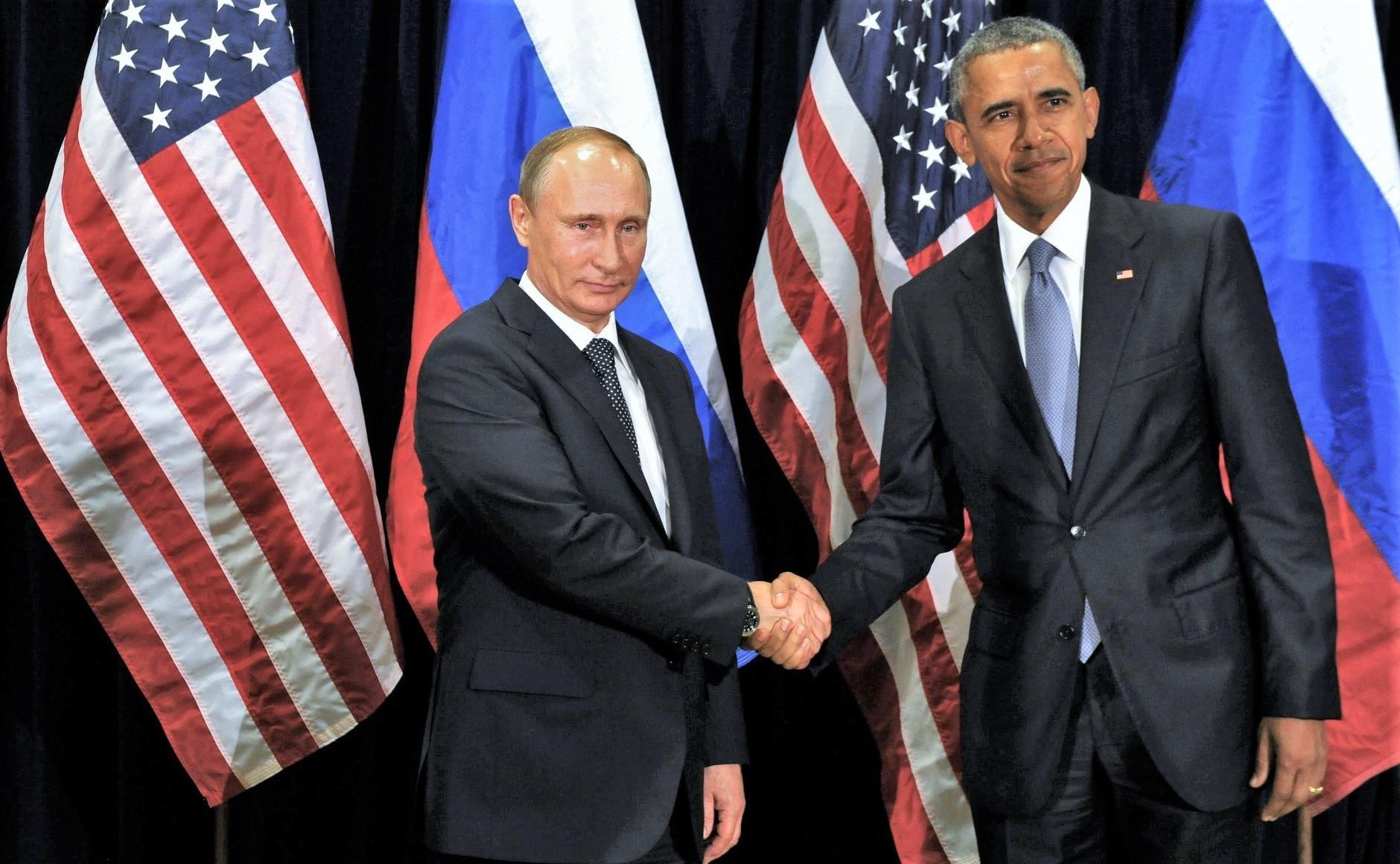 Putin und Obama beim Shakehands