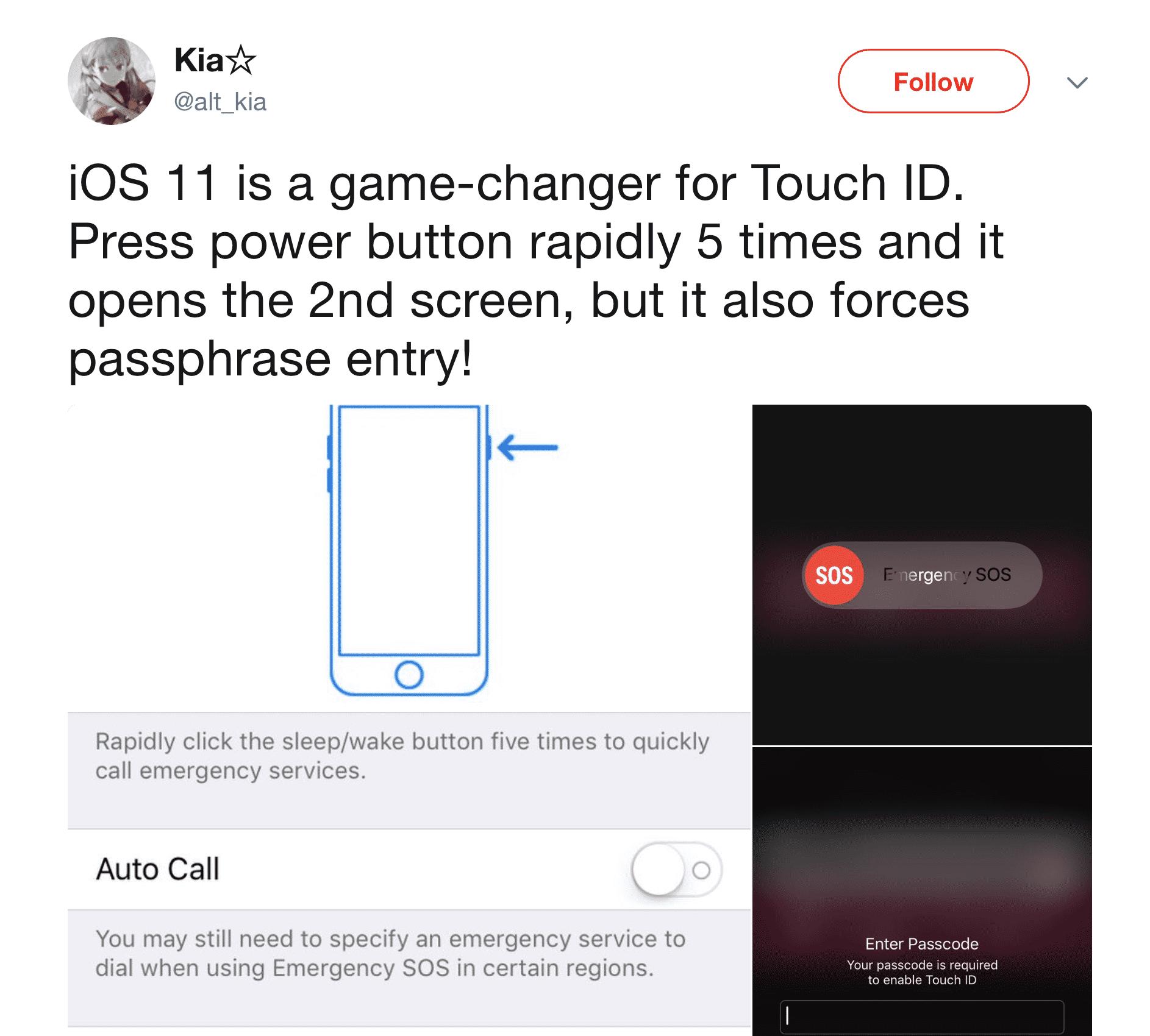 Gegen Datenerfassung bei Polizeikontrollen: iOS 11 soll schnellen iPhone-Zugriff verhindern