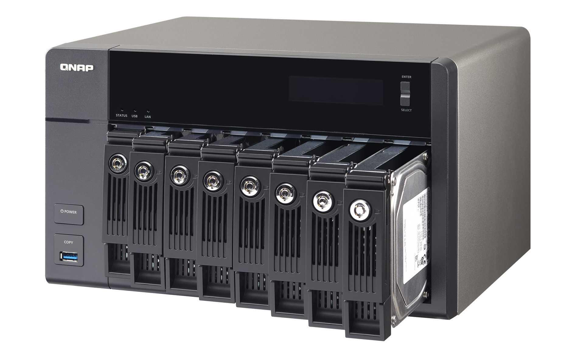 Zwei Nas Serien Von Qnap Mit Virtualisierung Heise Online Tvs 471 I3 4g Bei Allen Neu Vorgestellten X86 Netzwerkspeichern Lassen Sich Festplatten Oder Ssds Im Betrieb Wechseln