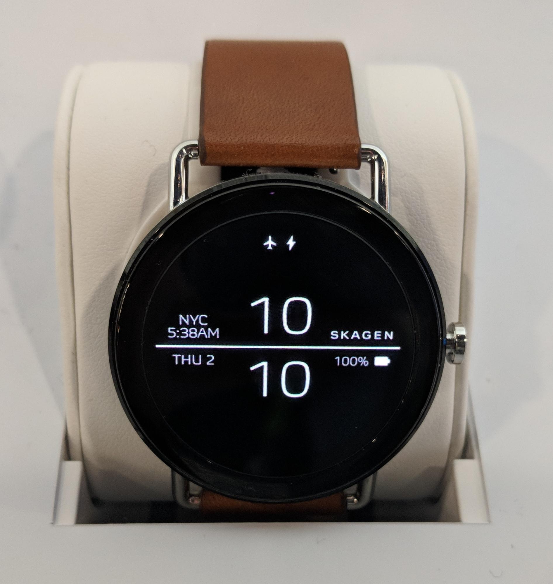 Die Skagen Falster läuft mit der aktuellen Version von Android Wear.
