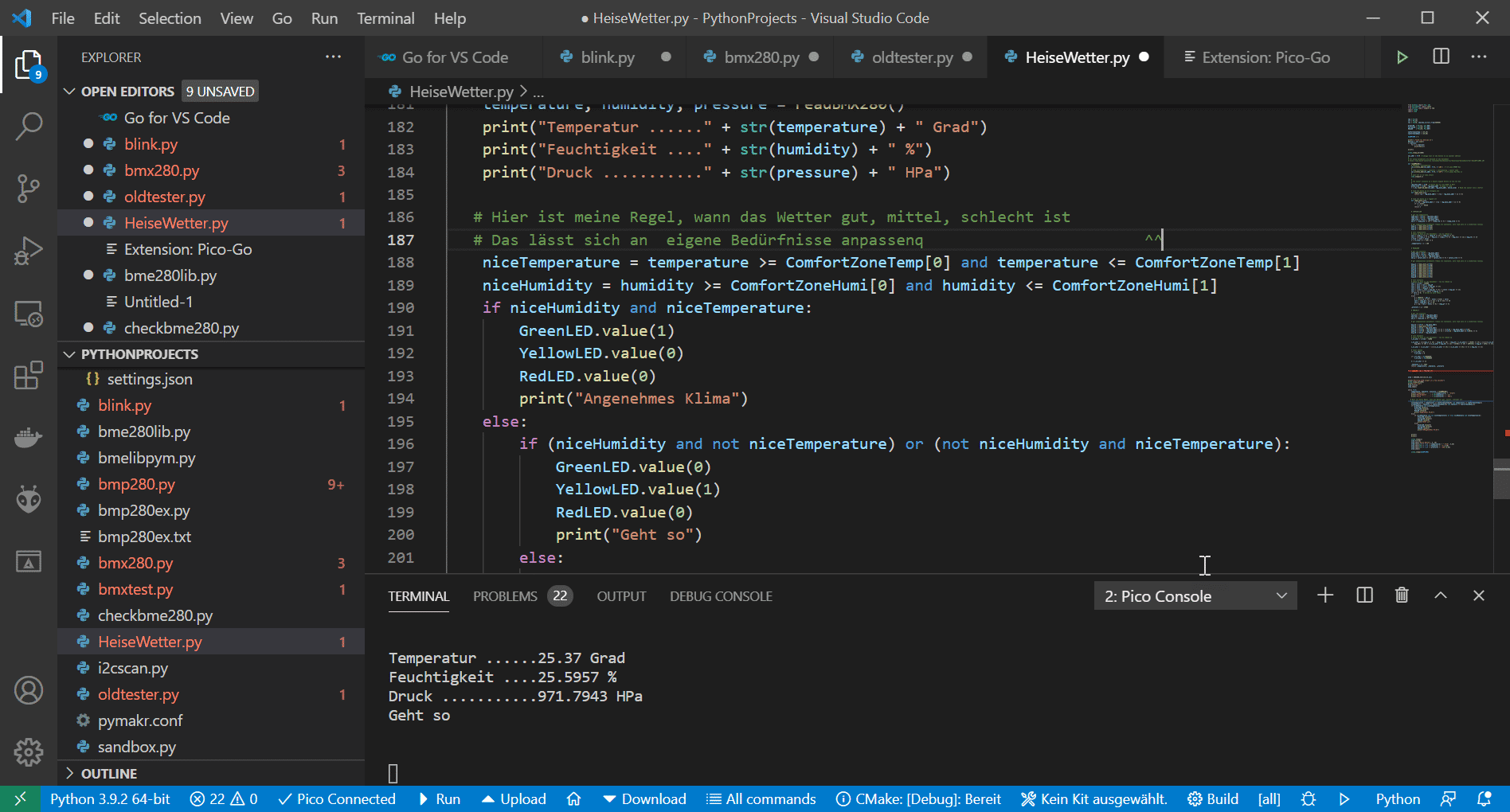 Die Extension Pico-Go hilft bei der MicroPython-Entwicklung für den Raspberry Pi Pico unter Visual Studio Code