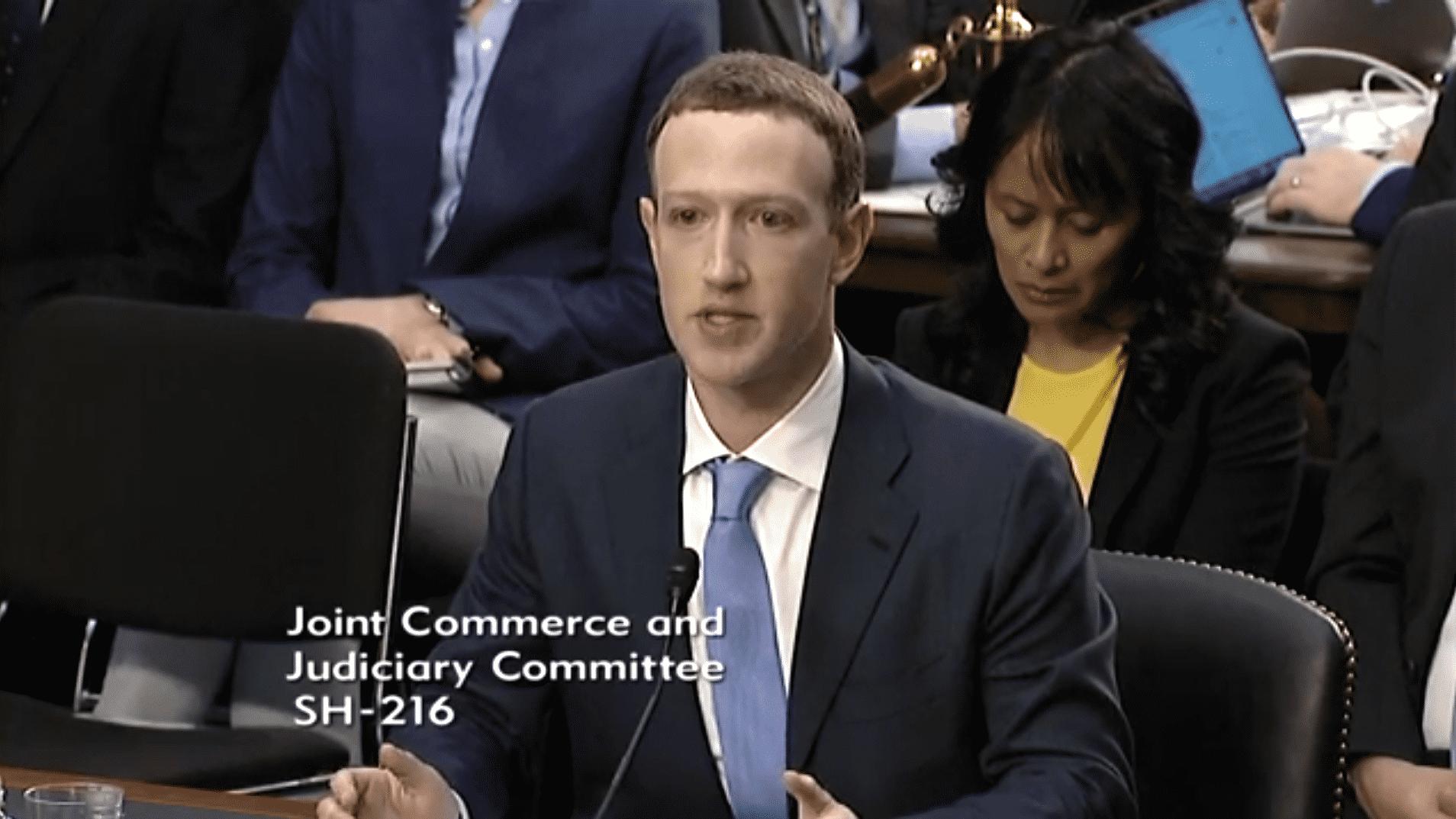 Zuckerberg im Senat