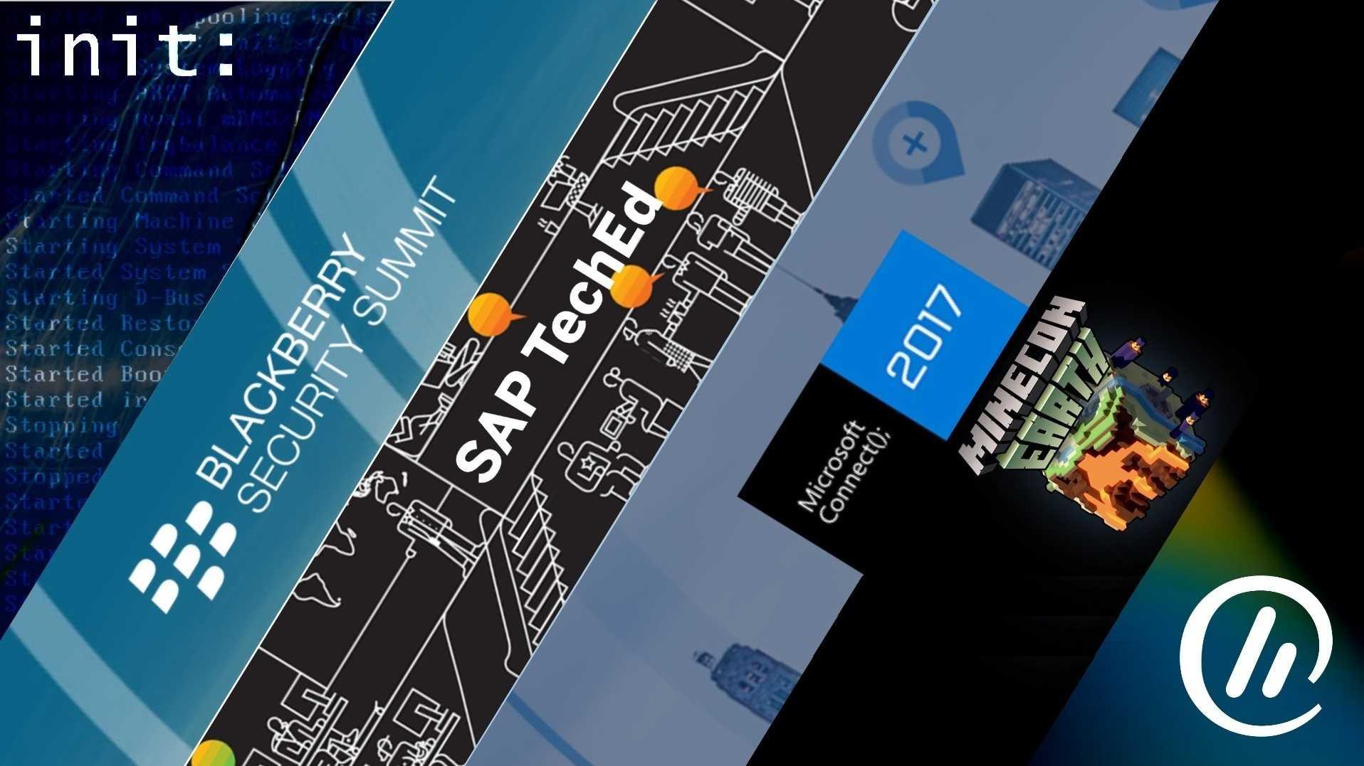 init – der Wochenausblick: BlackBerry, SAP, Microsoft und Minecraft