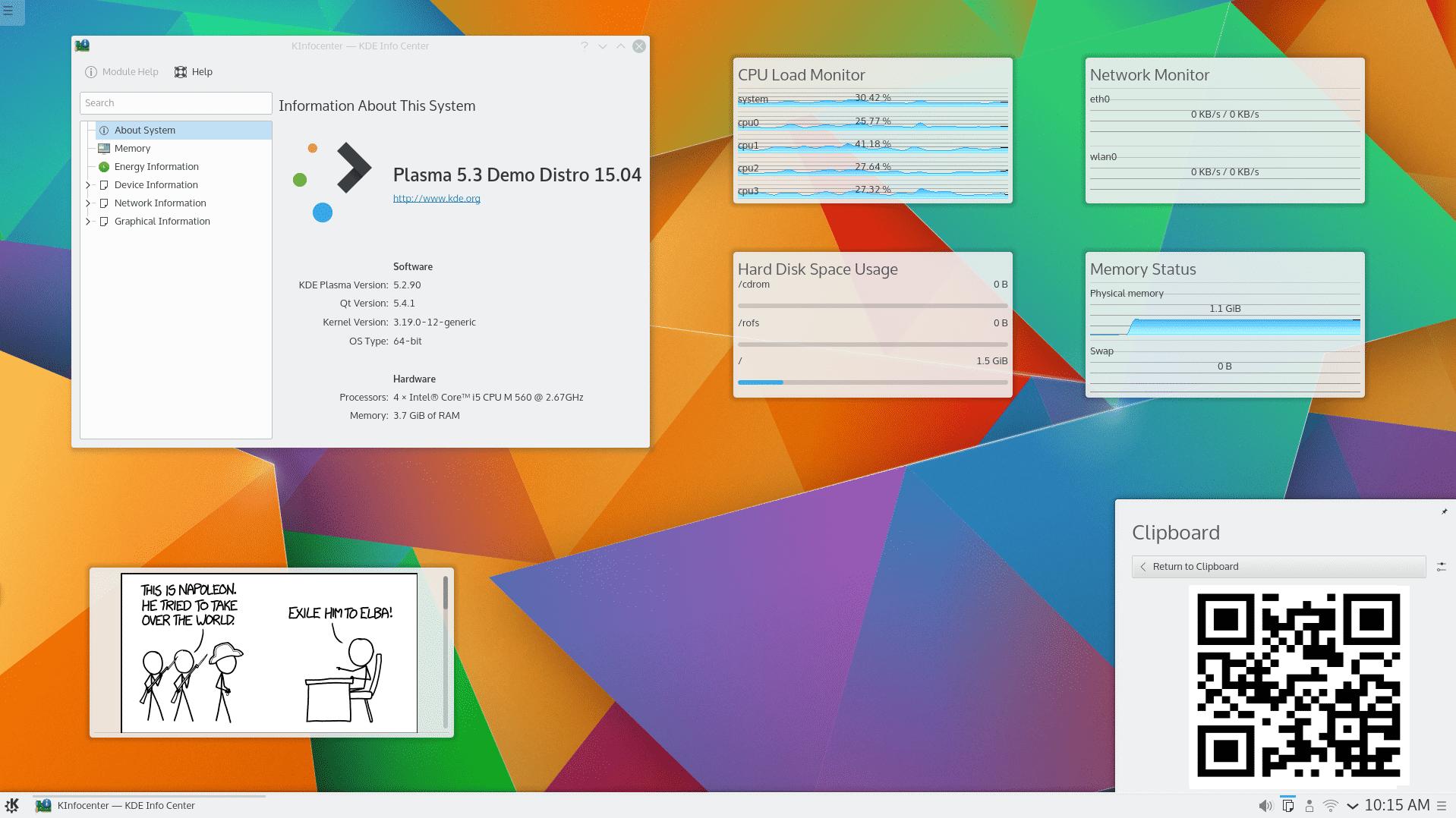 Neuer KDE-Desktop: Plasma 5.3 veröffentlicht