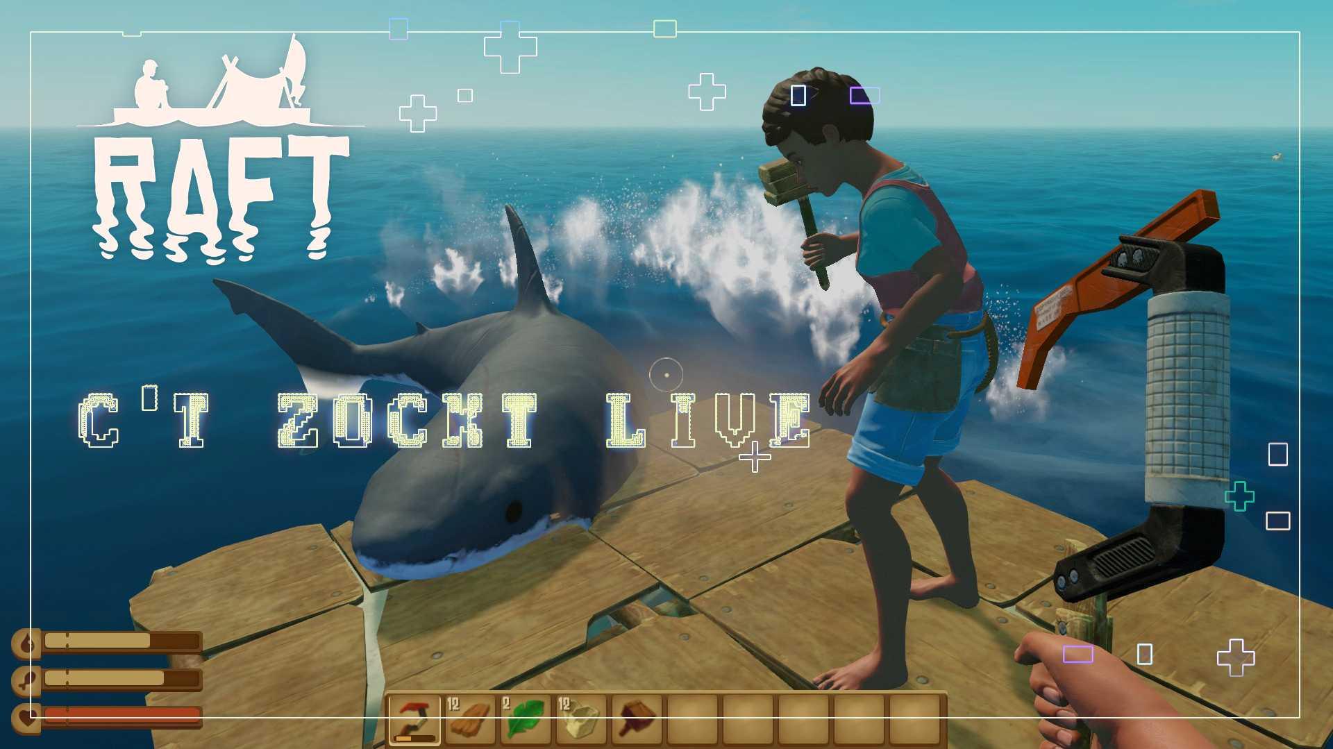 c't zockt LIVE: Raft - Hai-Life auf dem Floß