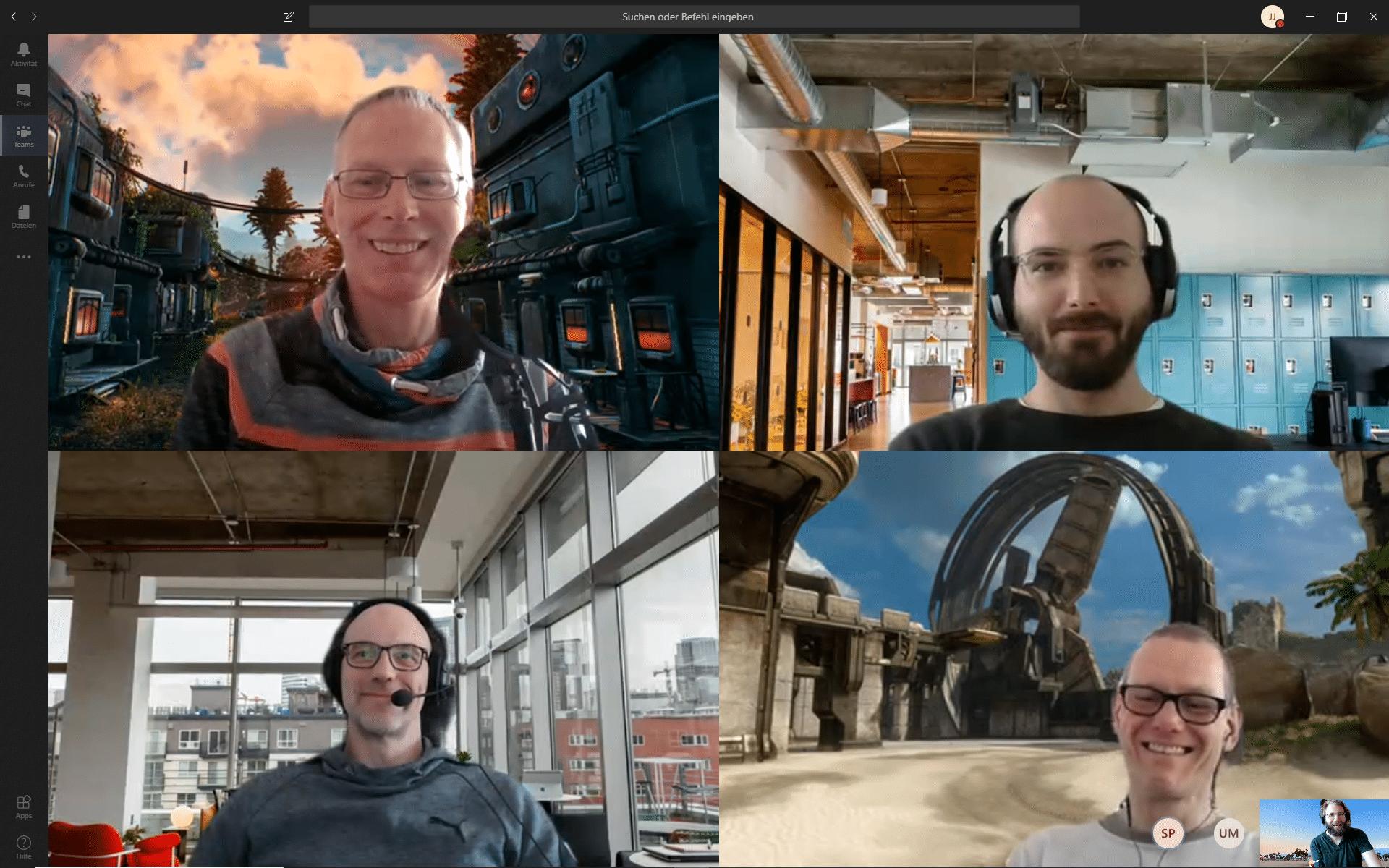 Optische Auflockerung: Seit Kurzem beherrscht Microsoft Teams virtuelle Hintergründe in Videochats.