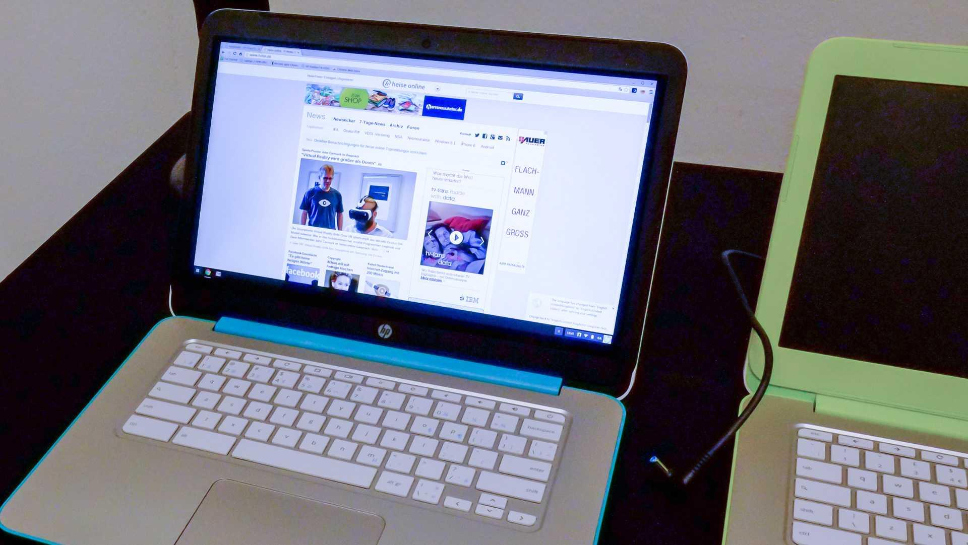 HP Chromebook: Zeitgemäße Full-HD-Auflösung, Datenflat, knallige Farben.