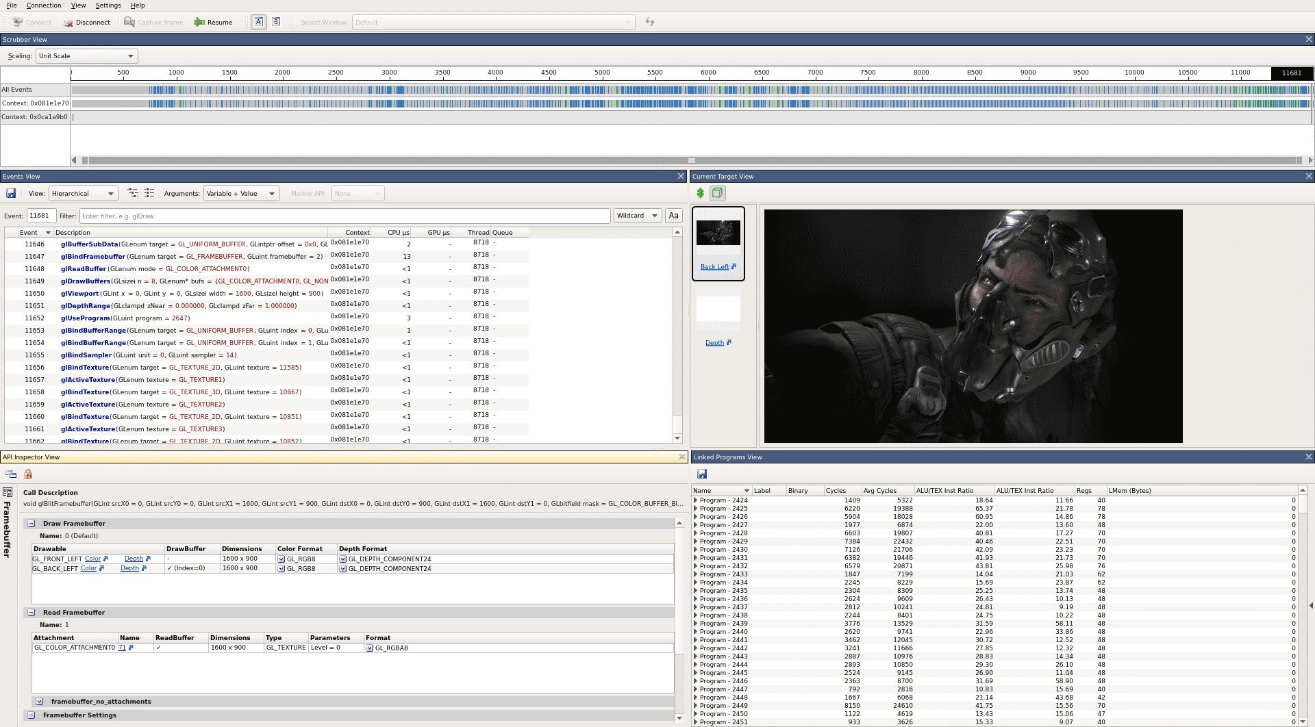 Entwickler, die unter Linux viel mit OpenGL arbeiten, können durch die Analysemöglichkeiten des Graphics Debugger die Performance ihres Codes verbessern.