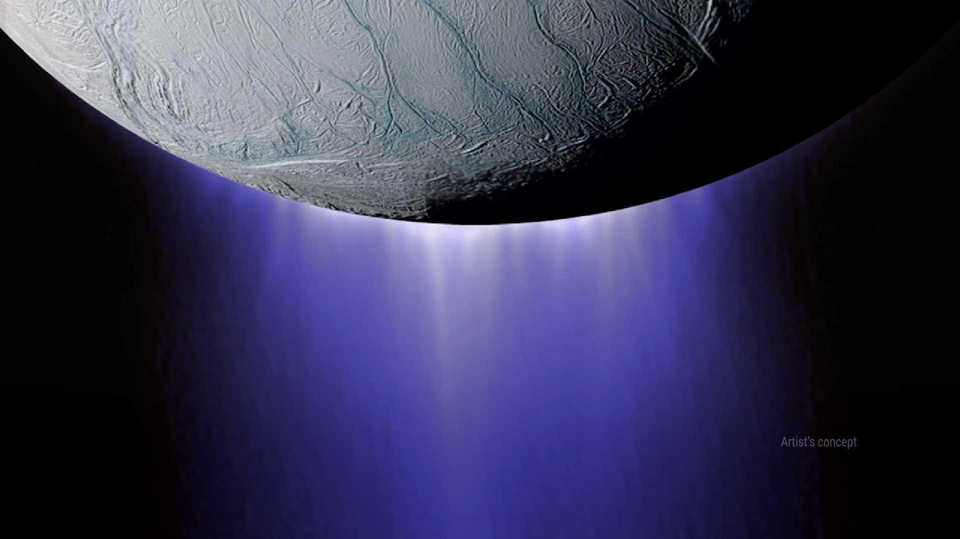 Partikelwolken um Saturnmond Enceladus