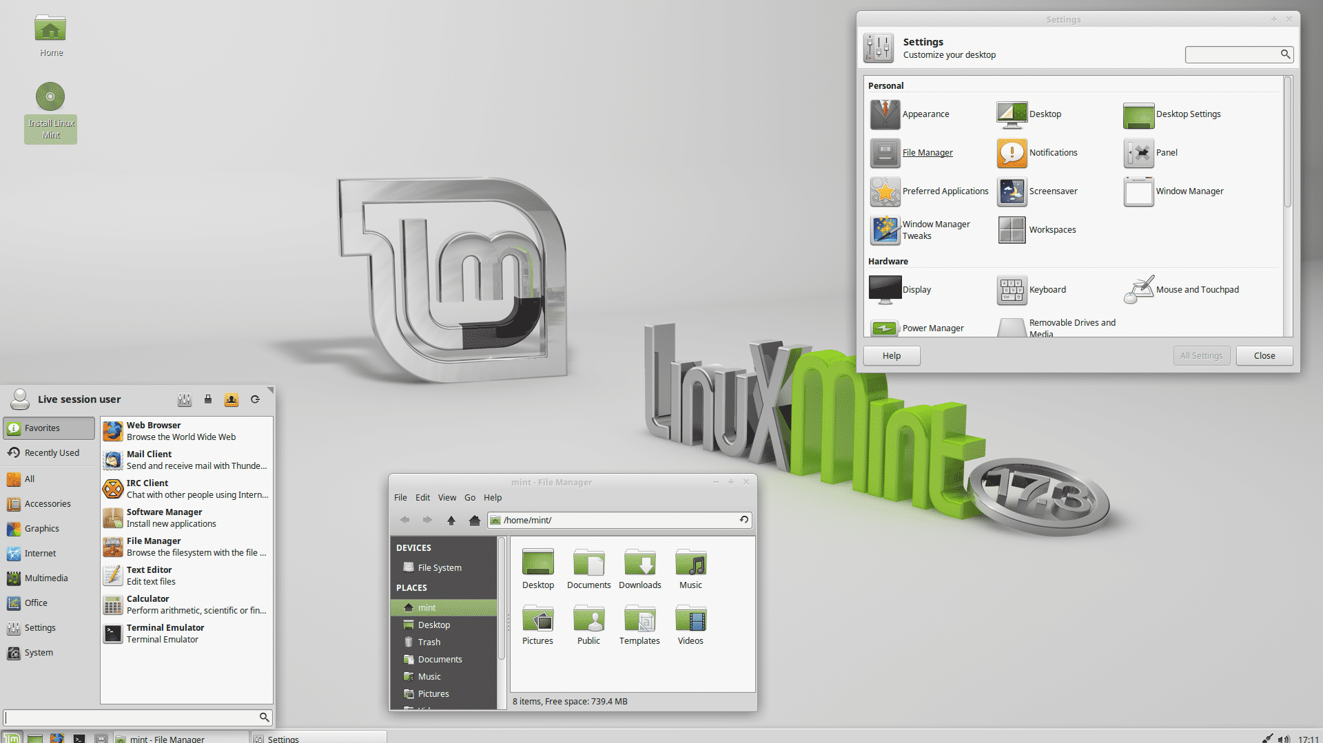 Linux Mint 17.3 Xfce Edition