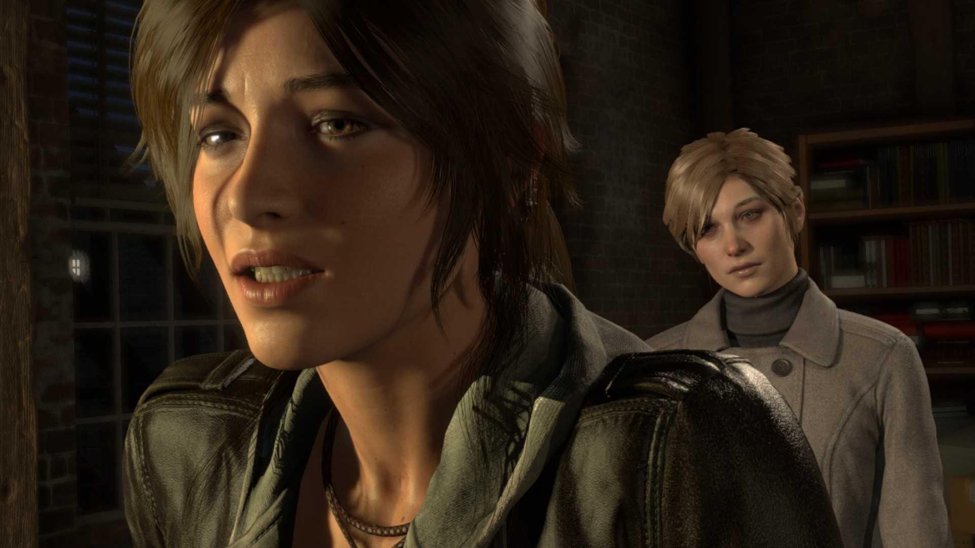 Laras Gesicht ist grafisch überzeugend modelliert.