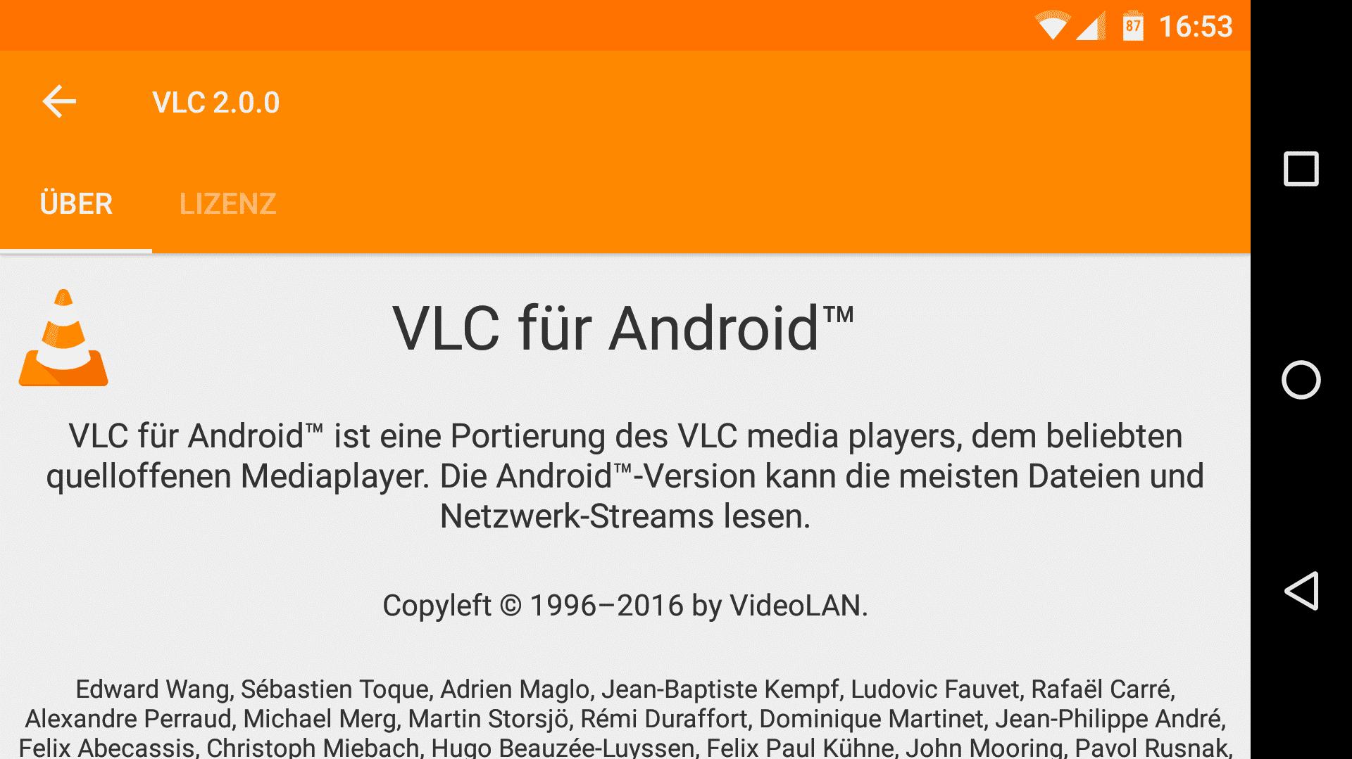 VLC 2.0 für Android unterstützt Netzwerkfreigaben