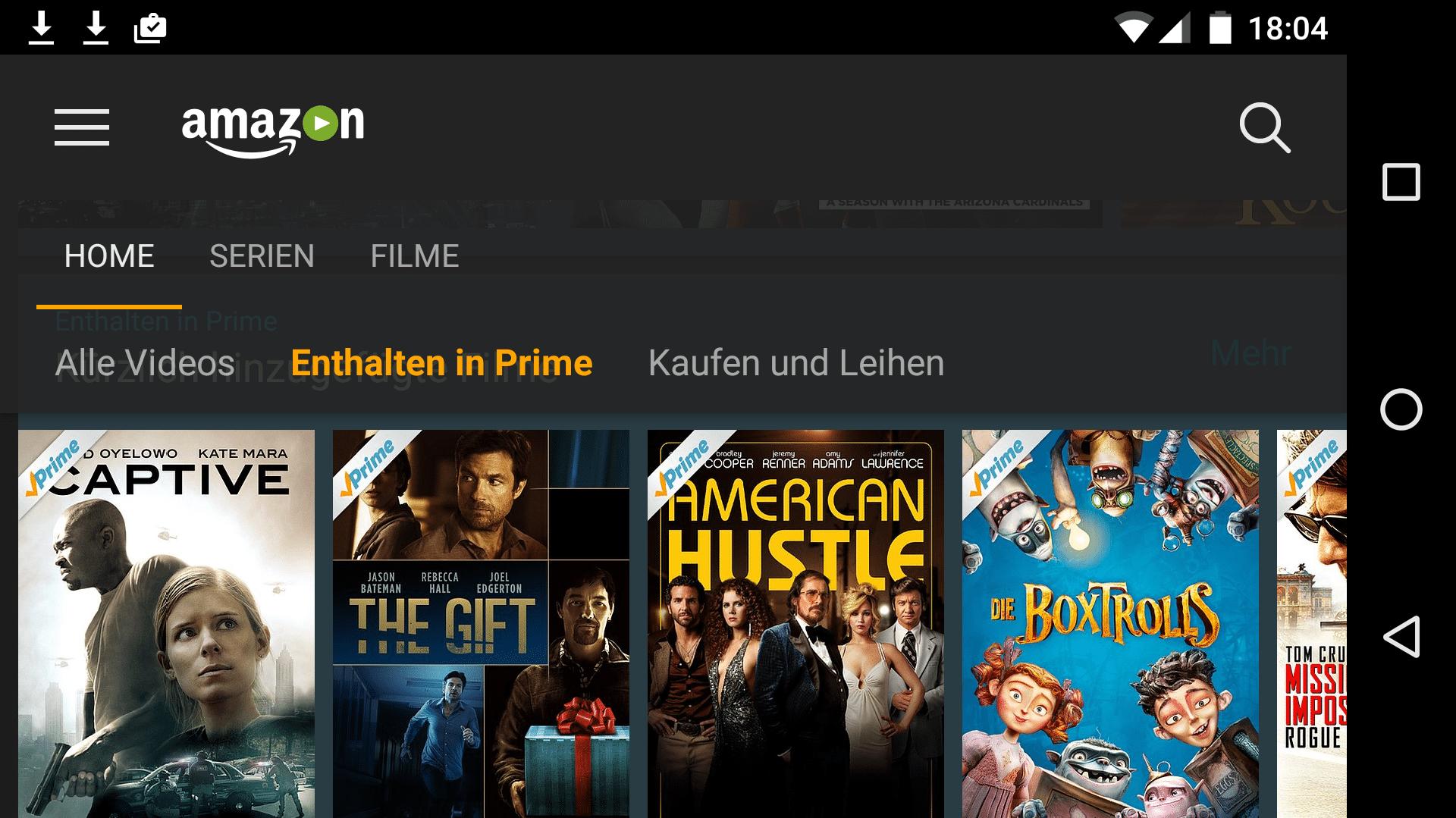 Amzon Prime Instant Video: Filme und Serien auf SD-Karte herunterladen