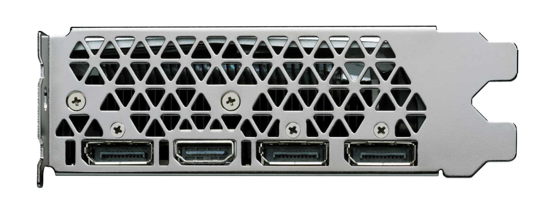 Vier Displays lassen sich über drei DisplayPorts und eine HDMI-Buchse gleichzeitig ansteuern.