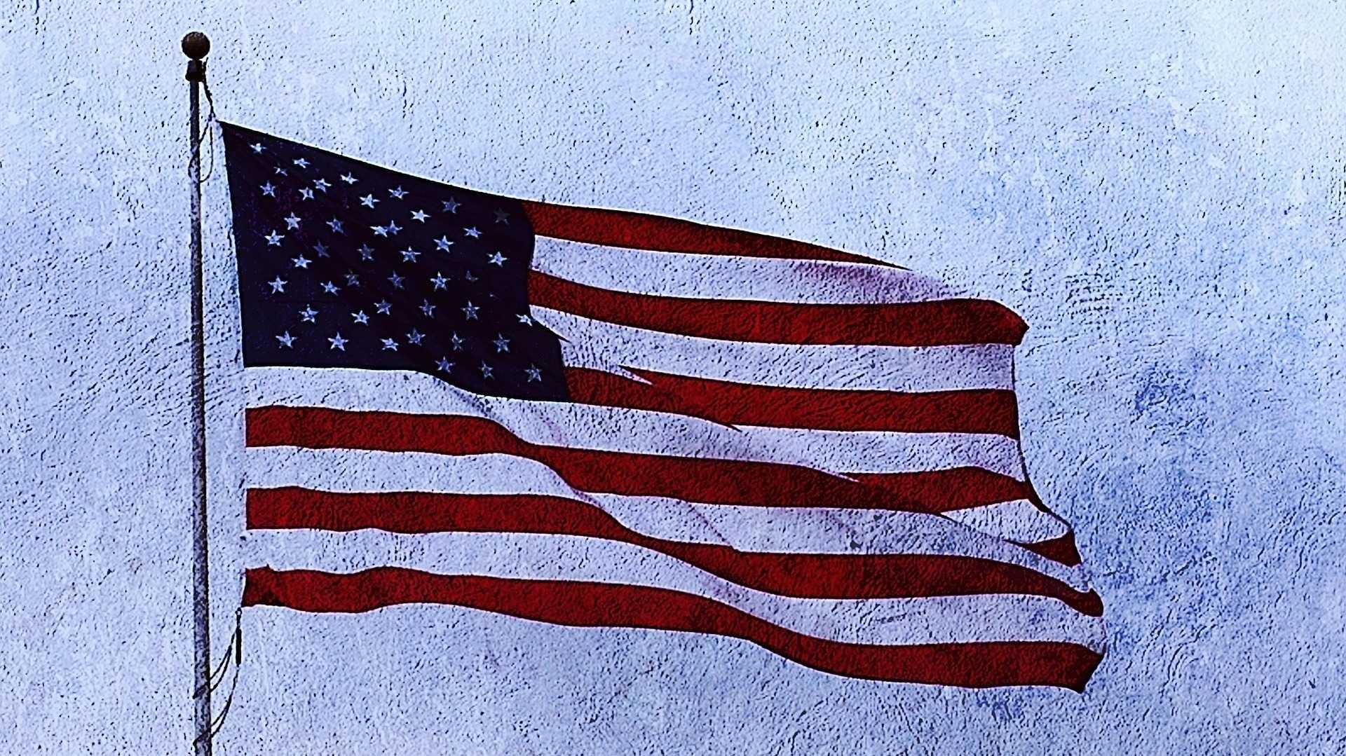 US-Fahne, leicht künstlerisch verfremdet