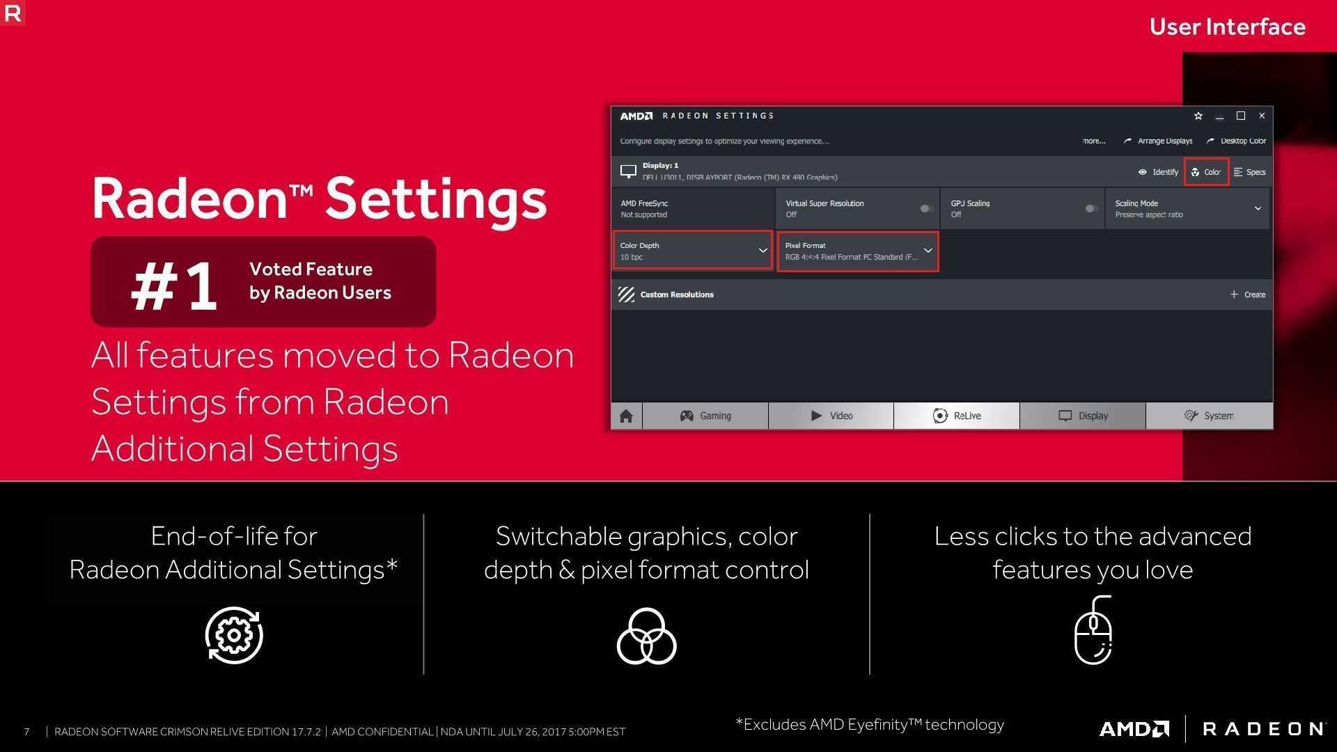 Die erweiterten Einstellungen wandern in die Radeon-Settings.