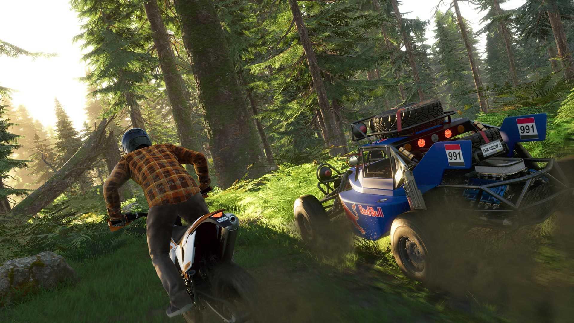 In der Demo von The Crew 2 überzeugten uns vor allem die Gelände-Motorräder, die anspruchsvoll zu steuern waren.