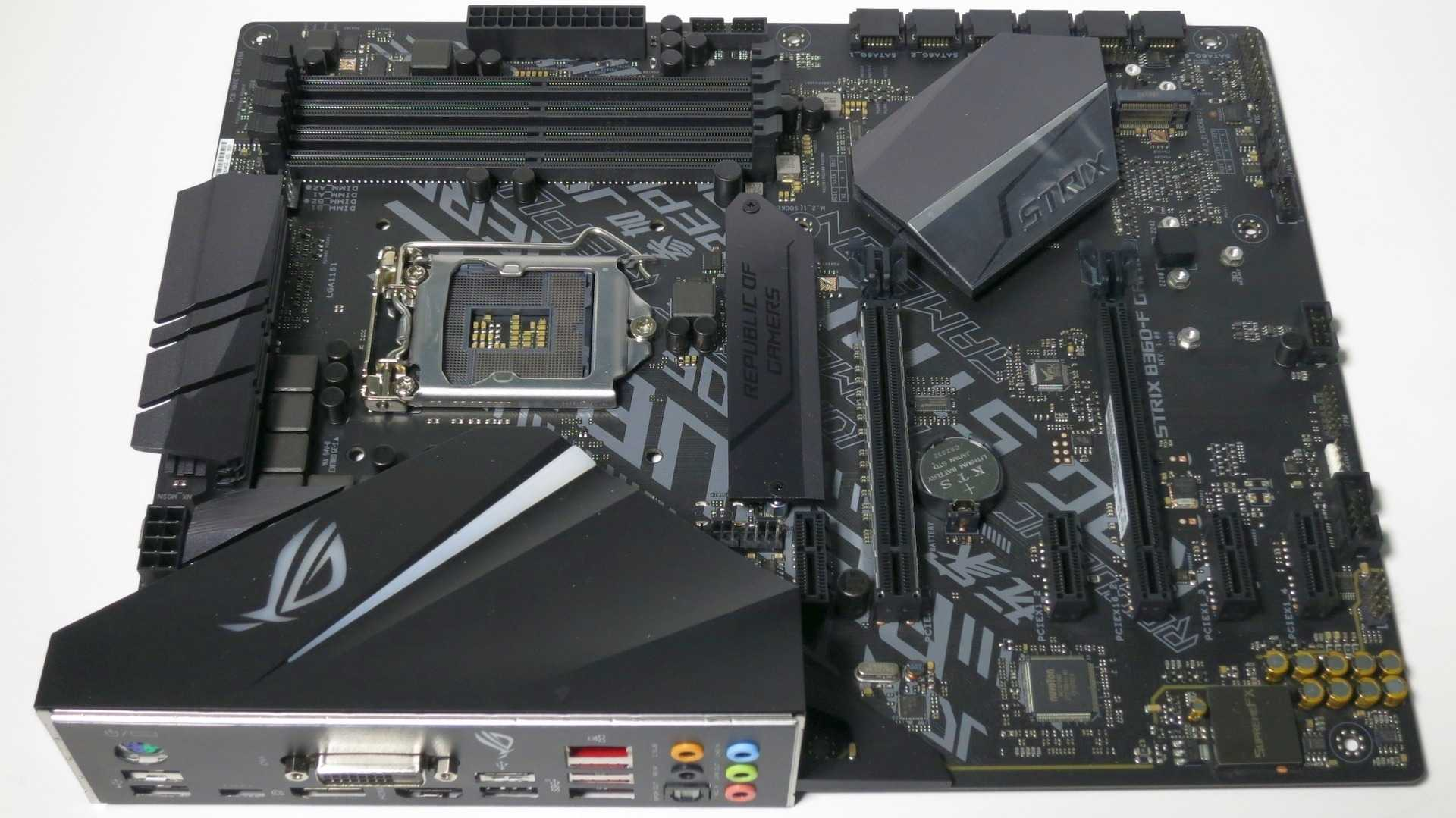 LGA1151-Mainboard Asus Strix B360-F Gaming mit Intel-Chipsatz der Serie 300 (B360)