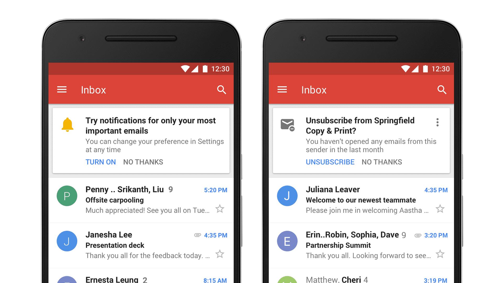 Gmail erkennt künftig Newsletter, die der Nutzer eh nicht liest – ein kurzes Antippen kündigt das Abo.