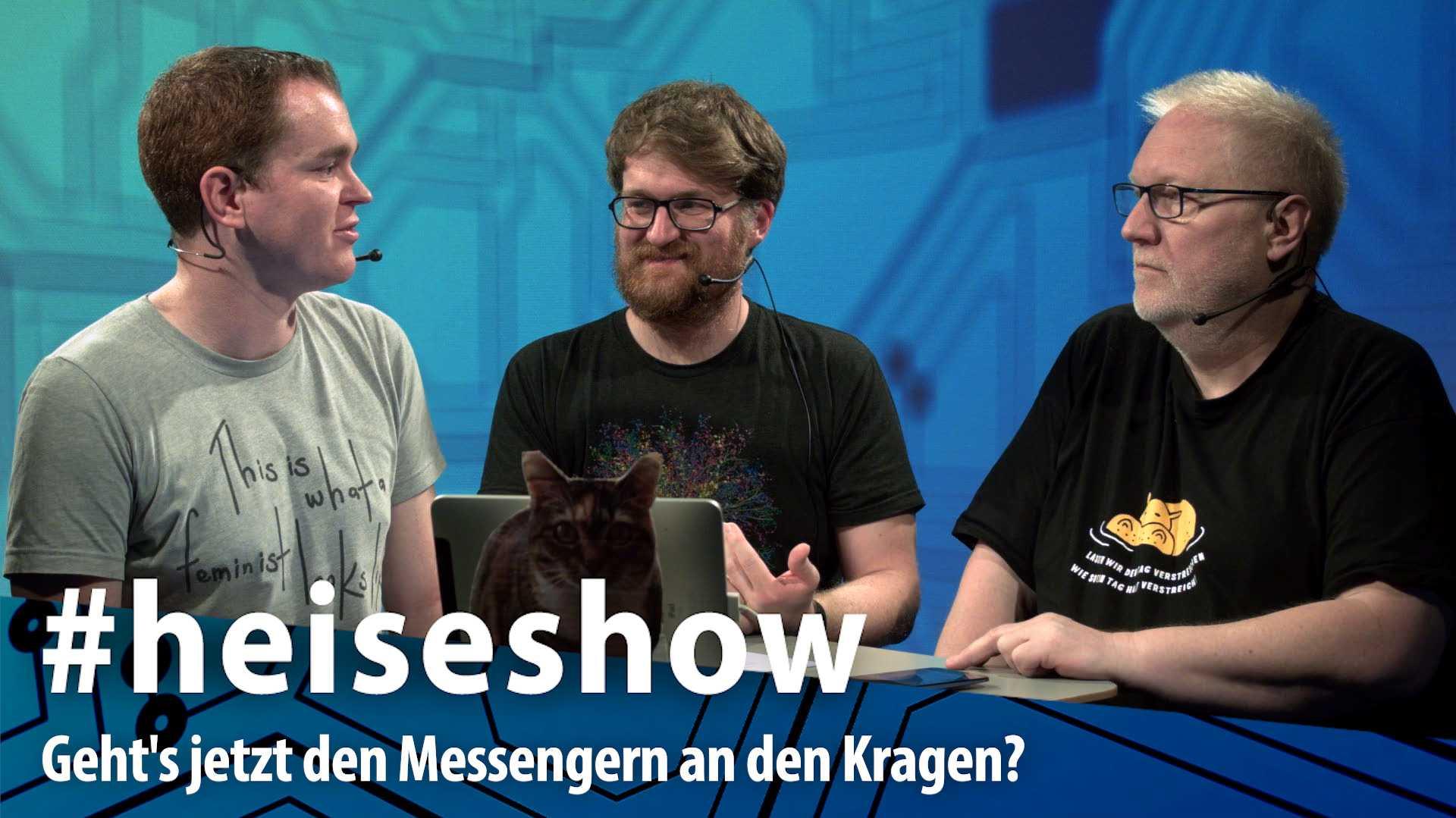 #heiseshow, live ab 12 Uhr: Blockaden und Krypto-Streit – Geht's jetzt den Messengern an den Kragen?