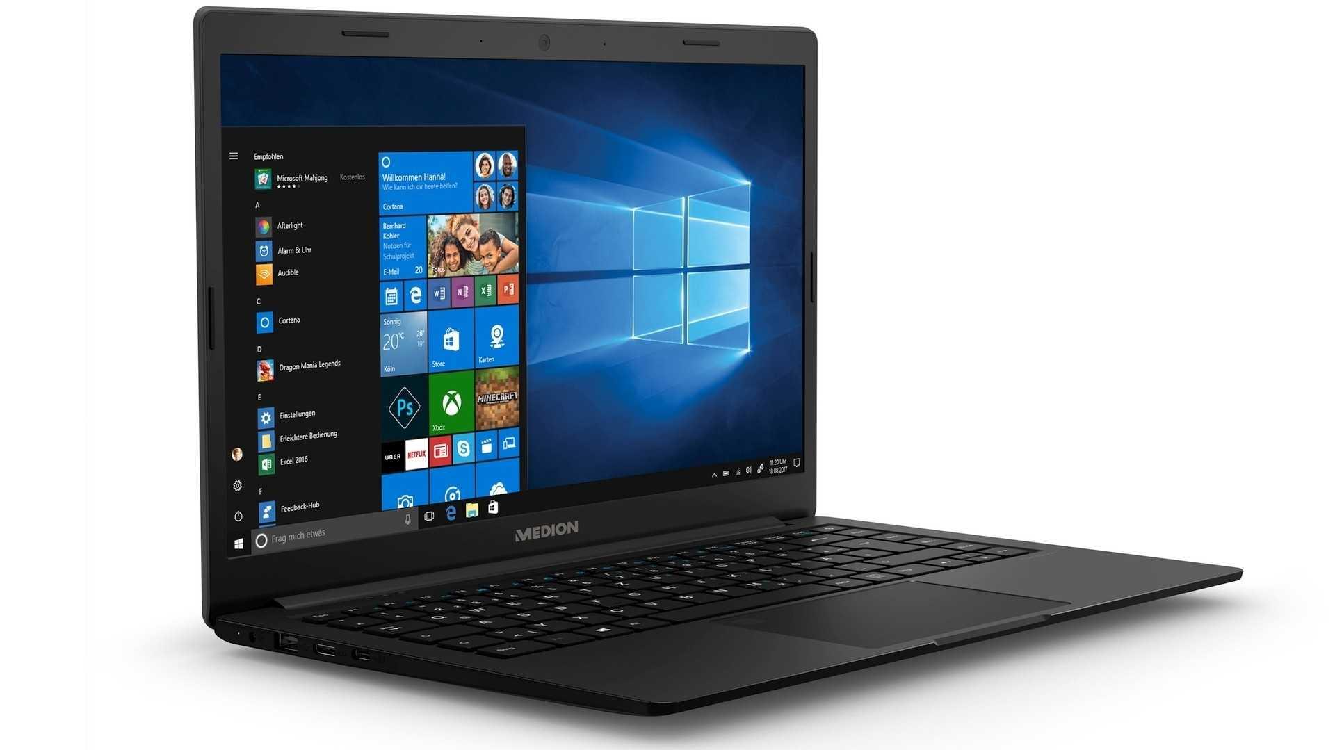 Aldi-Süd: Medion Akoya E4254 (MD 62100) mit Windows 10 S und Pentium Silver N5000