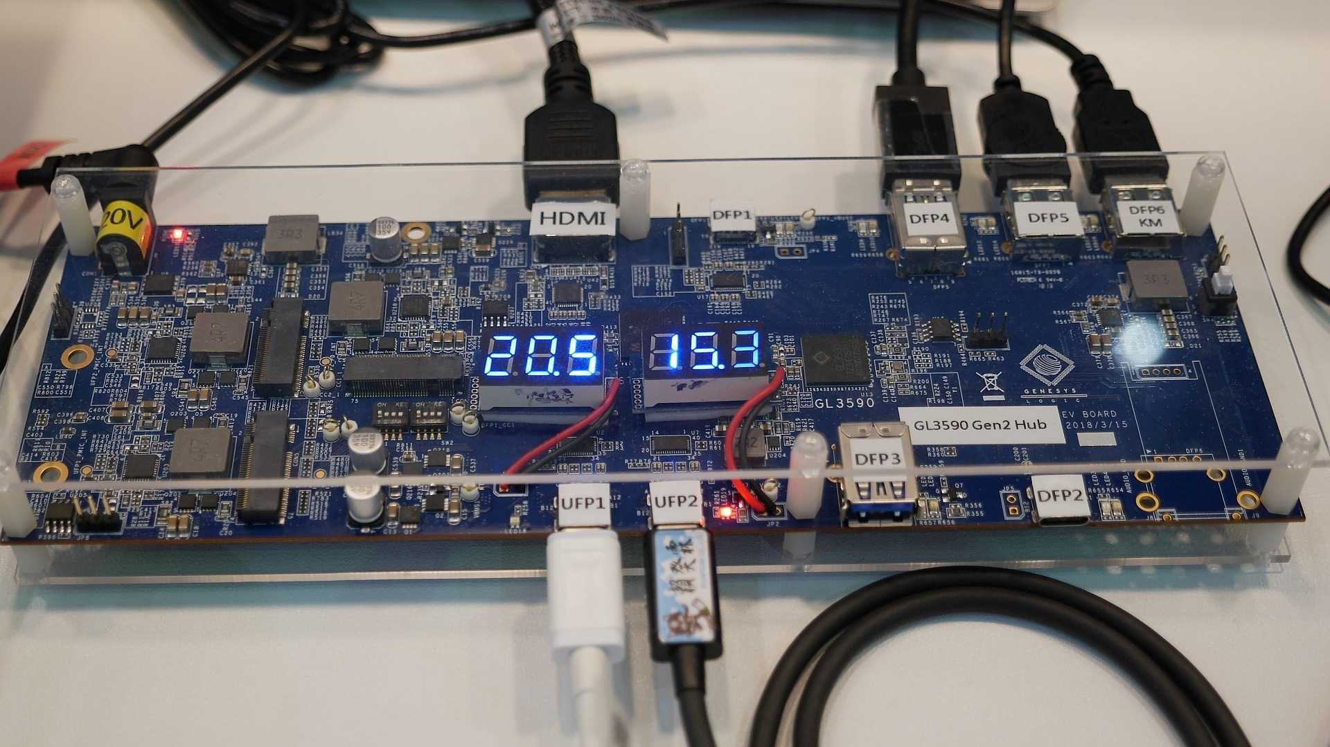 USB-C-Hub mit Genesys Logic GL3590-S