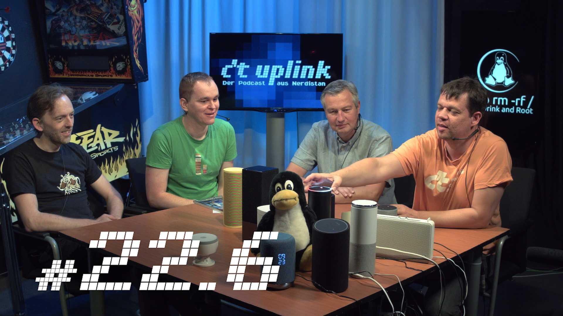 c't uplink 22.6: Smarte Lautsprecher, Linux erfindet sich neu und holpriger DSGVO-Start