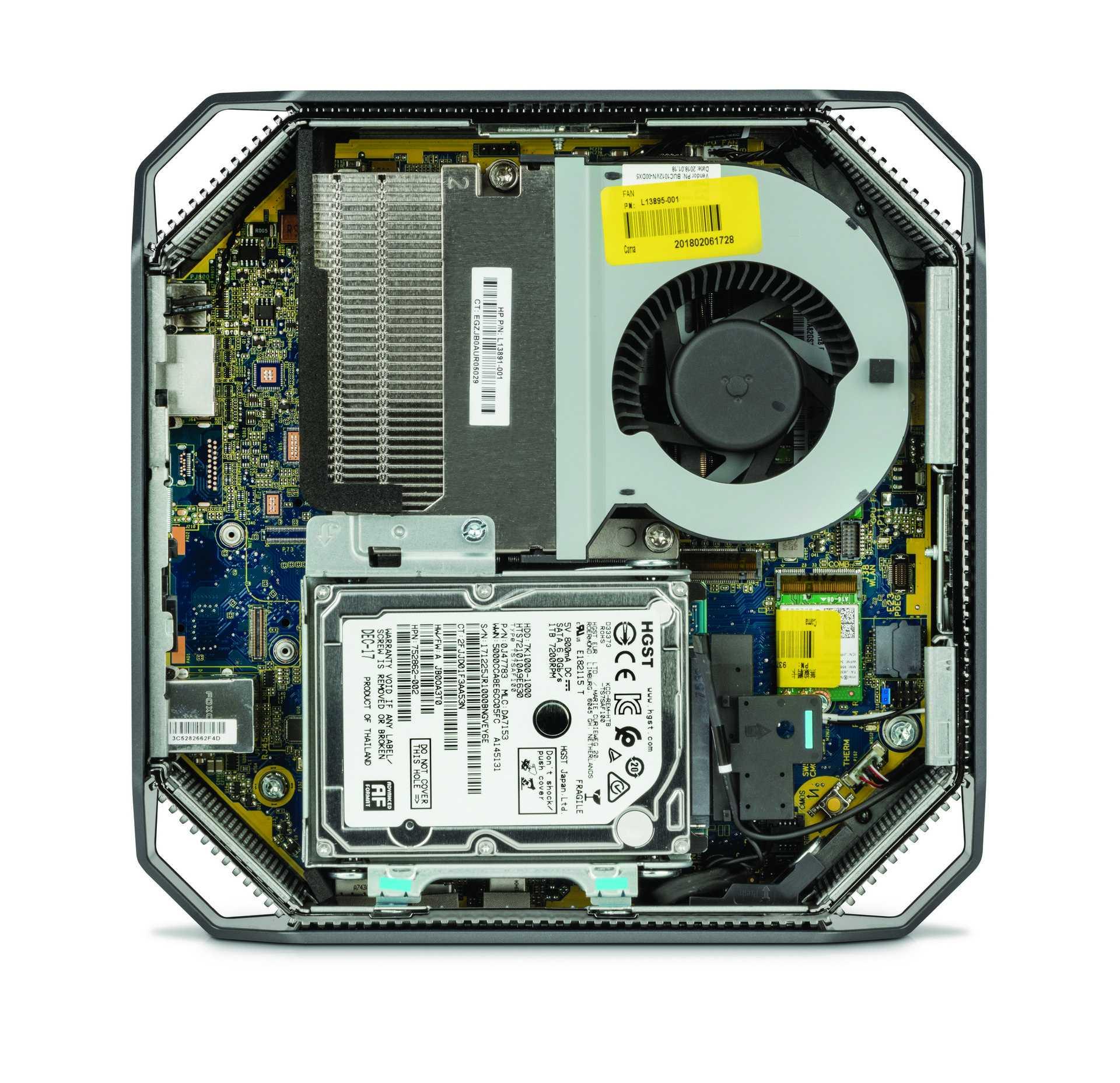 HP Z2 Mini G4 Innenleben