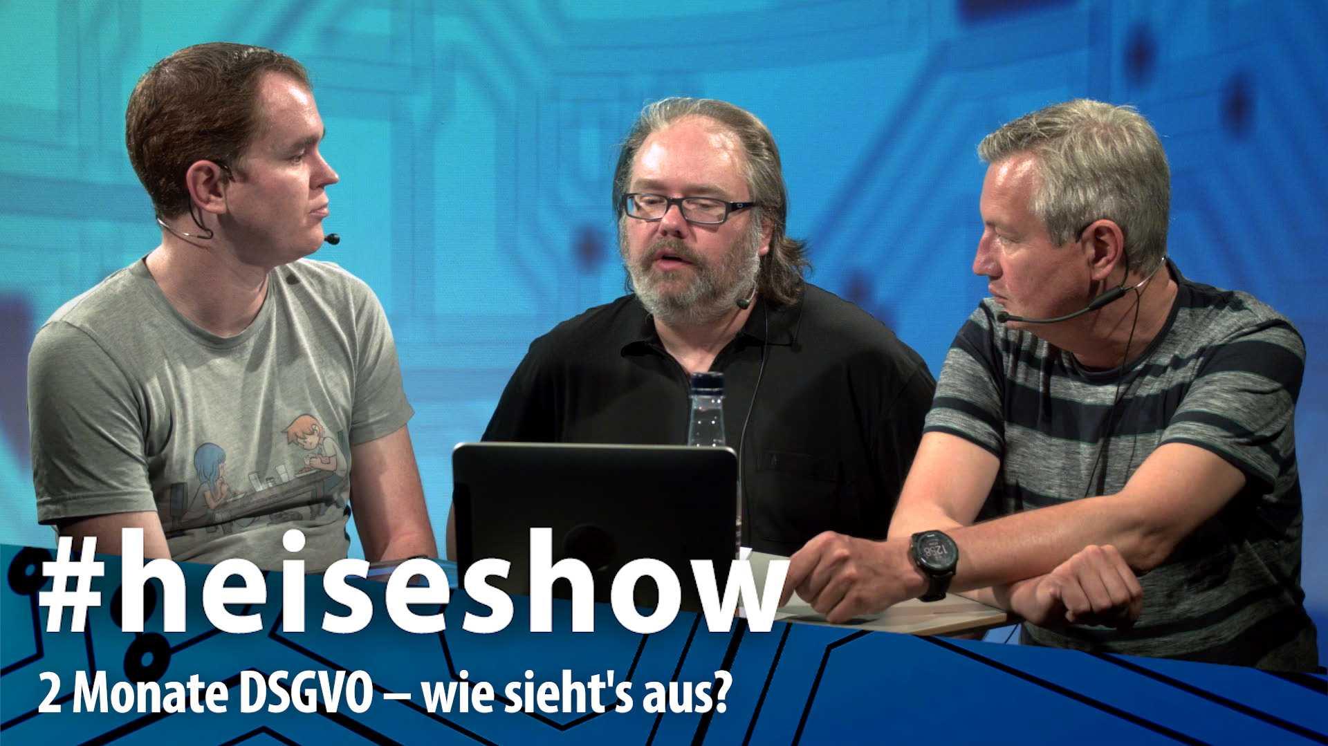 #heiseshow, live ab 12 Uhr: 2 Monate DSGVO – Wie sieht's aus?