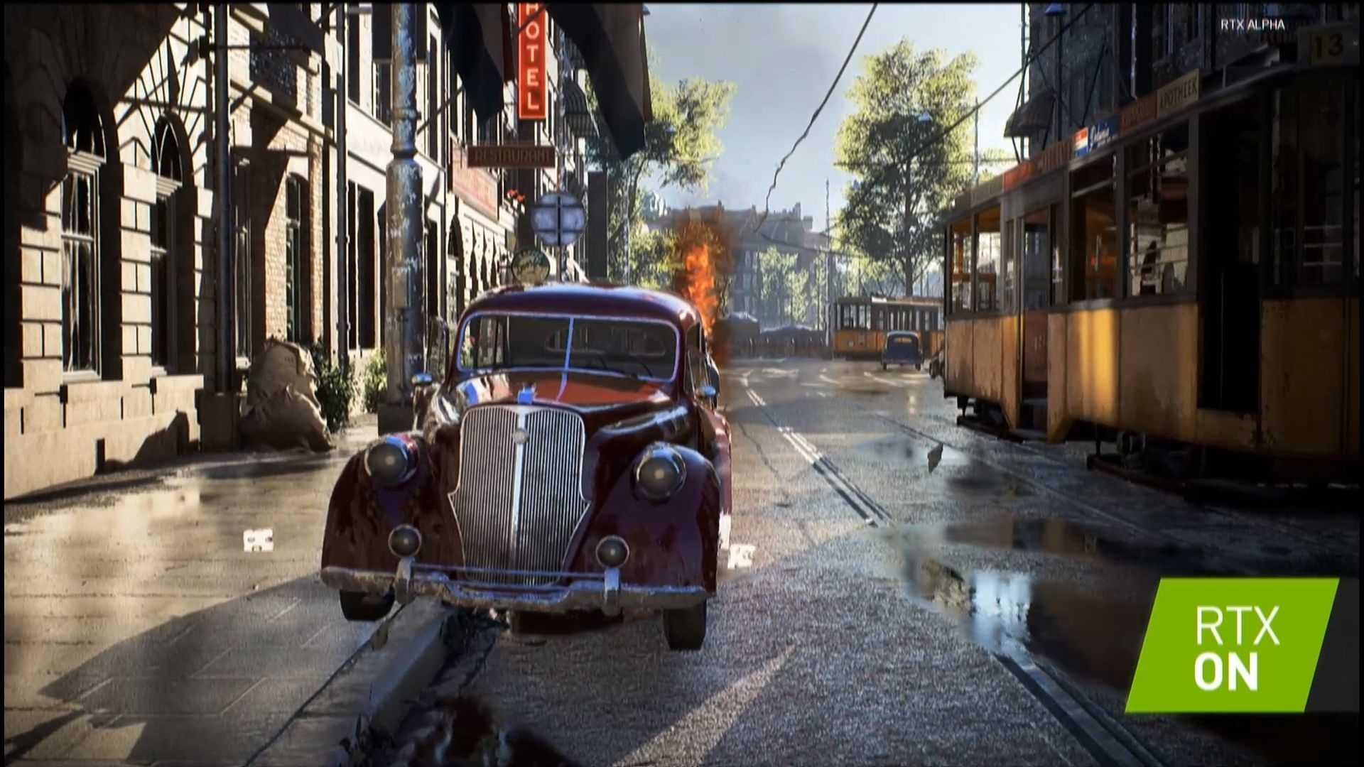Battlefield V mit Raytracing-Effekten.