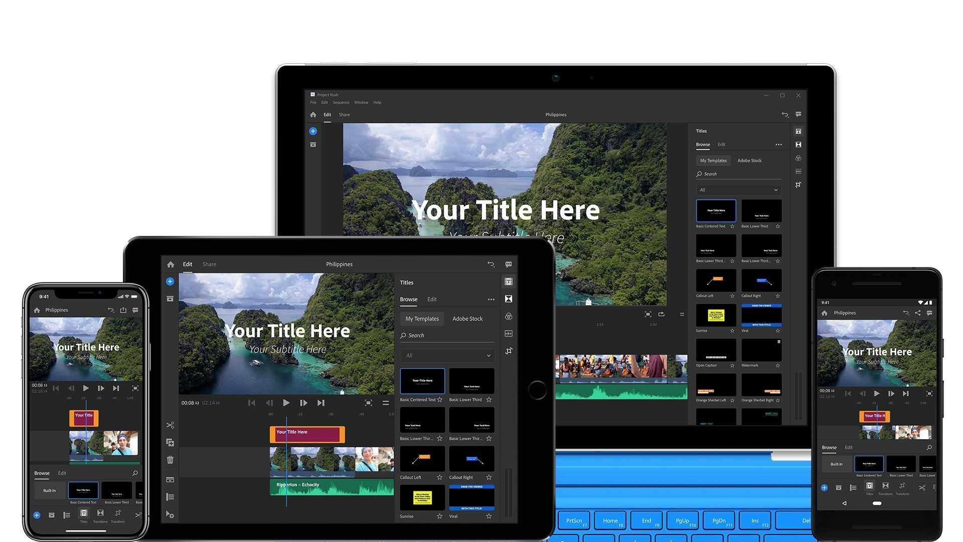 Project Rush soll noch in diesem Jahr für Desktop- und Mobil-Geräte erscheinen. Ziel ist die plattformübergreifende, cloudgestützte Videobearbeitung.