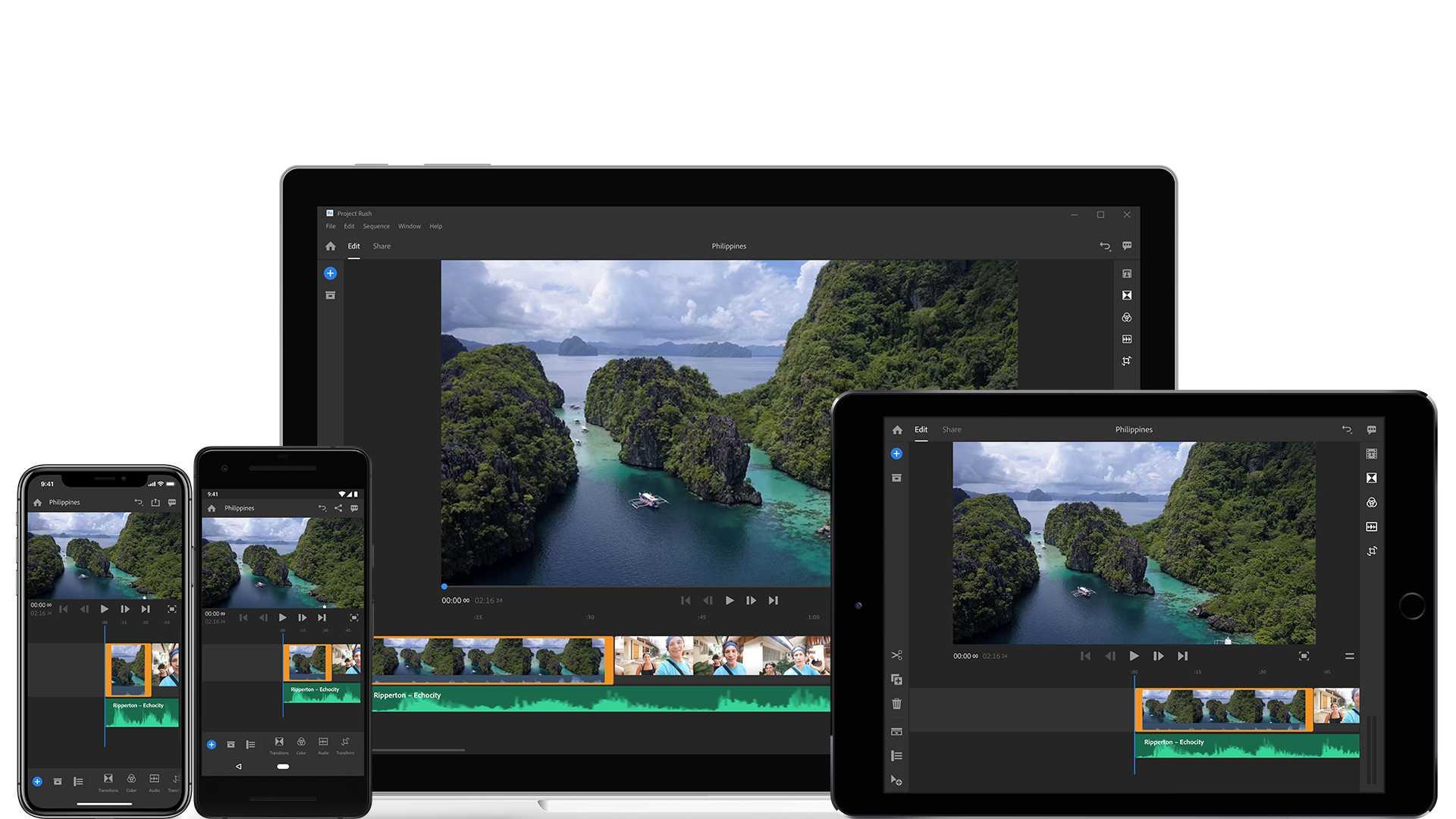 Premiere Rush stellt Videoschnittwerkzeuge auf verschiedenen Plattformen bereit und kommuniziert mit Premiere Pro CC.