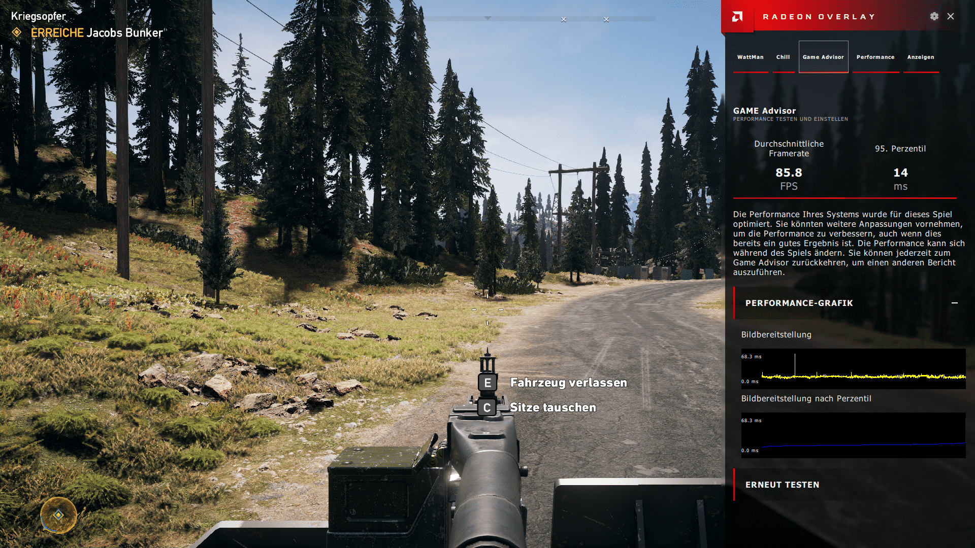 Radeon Game Advisor Frame Times