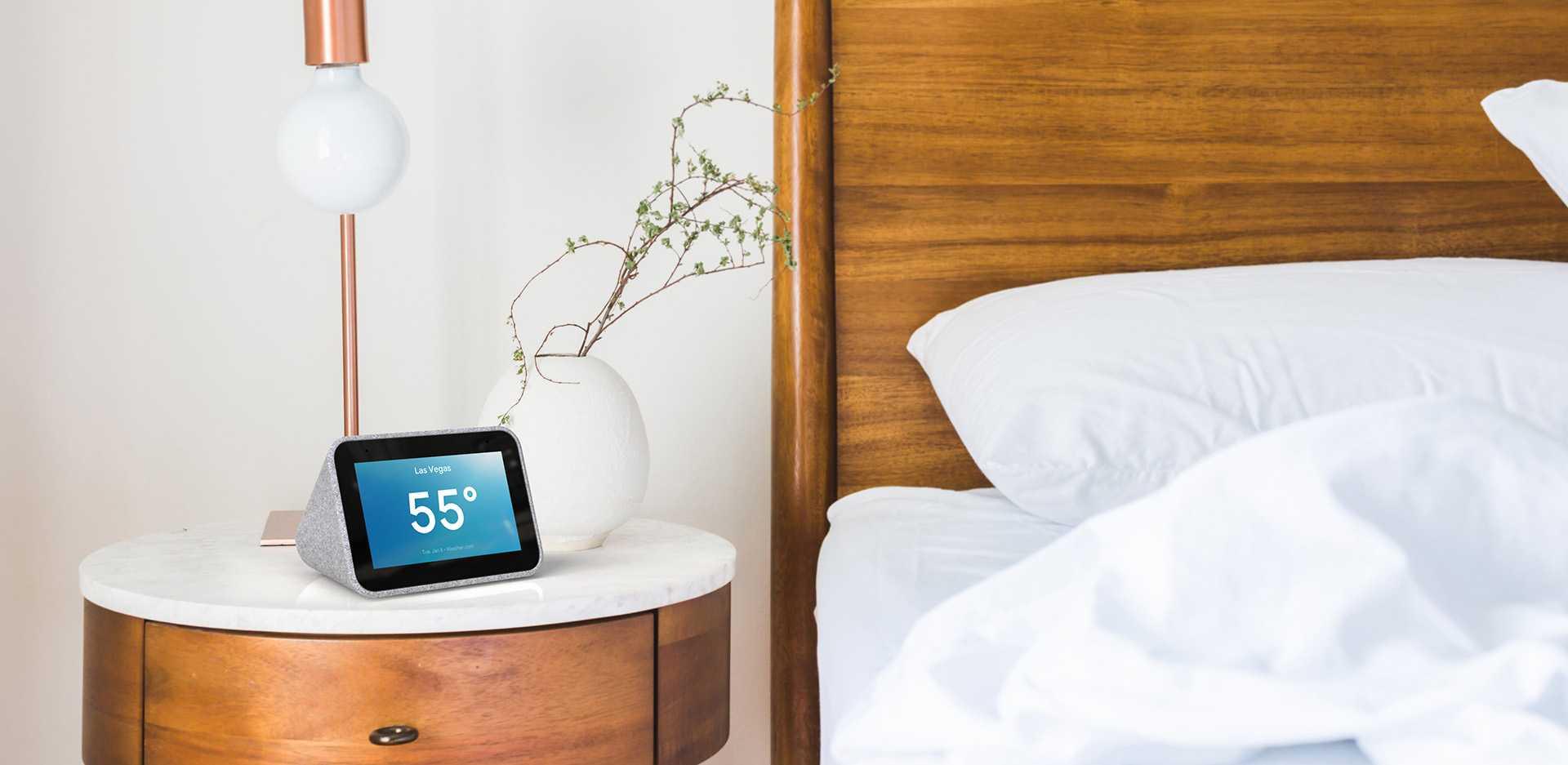 Der smarte Wecker von Lenovo soll den Schlafrhythmus verbessern. Dank Google Assistant steuert er außerdem das vernetzte Zuhause.