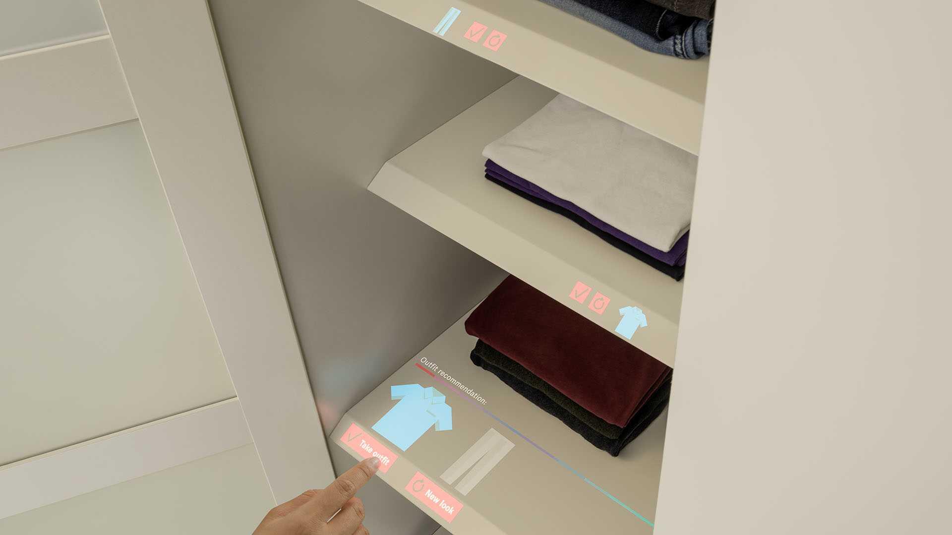Bosch: Laserbeamer erzeugt interaktive Schaltflächen
