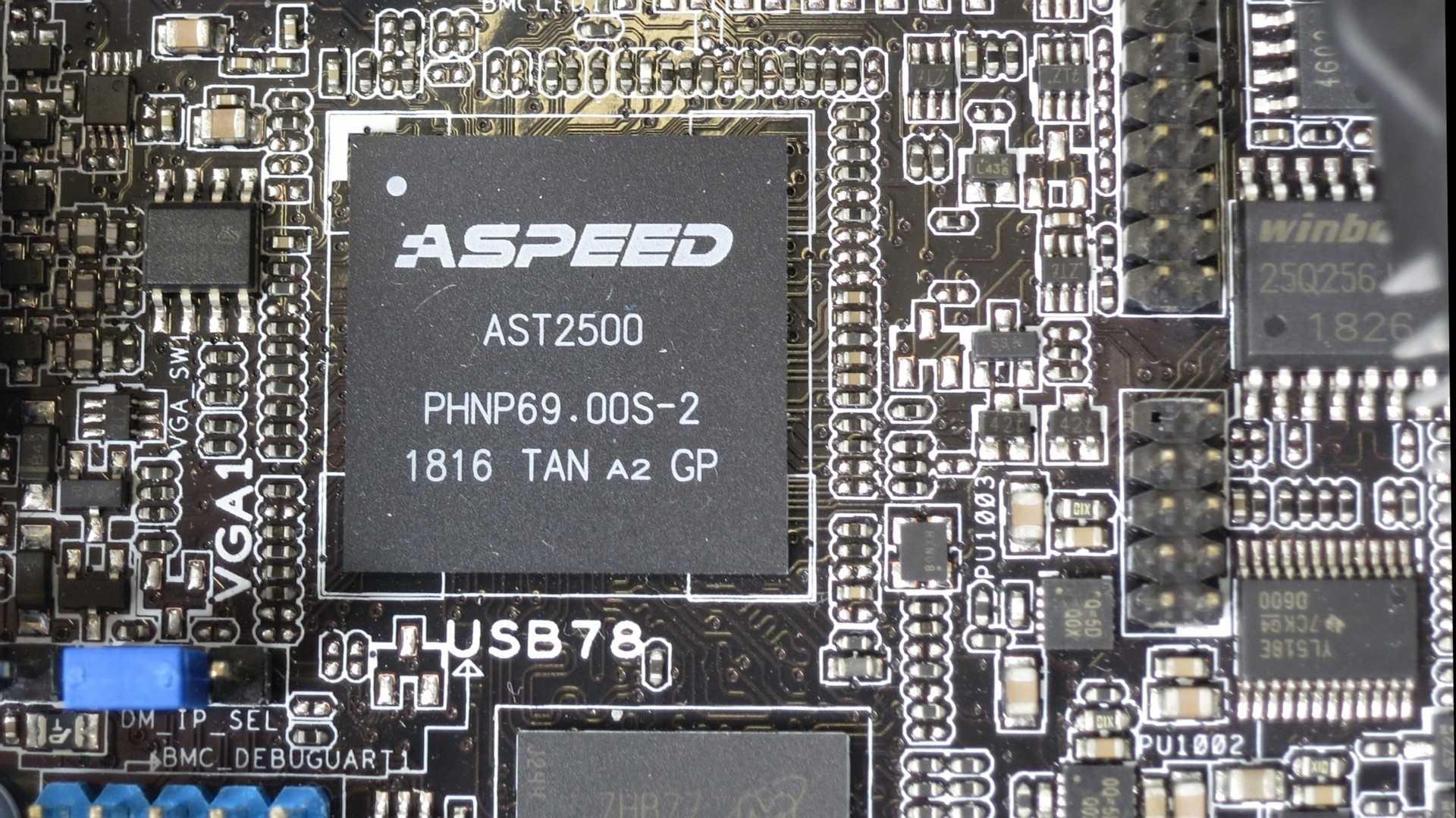 Der Baseboard Management Controller (BMC/Fernwartungschip) Aspeed AST2500
