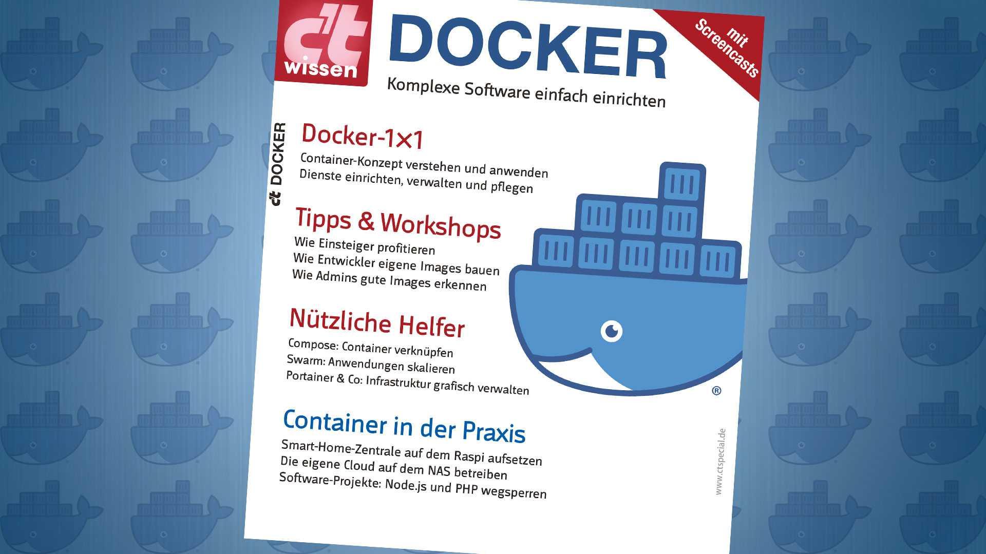 Jetzt erhältlich: c't wissen Docker