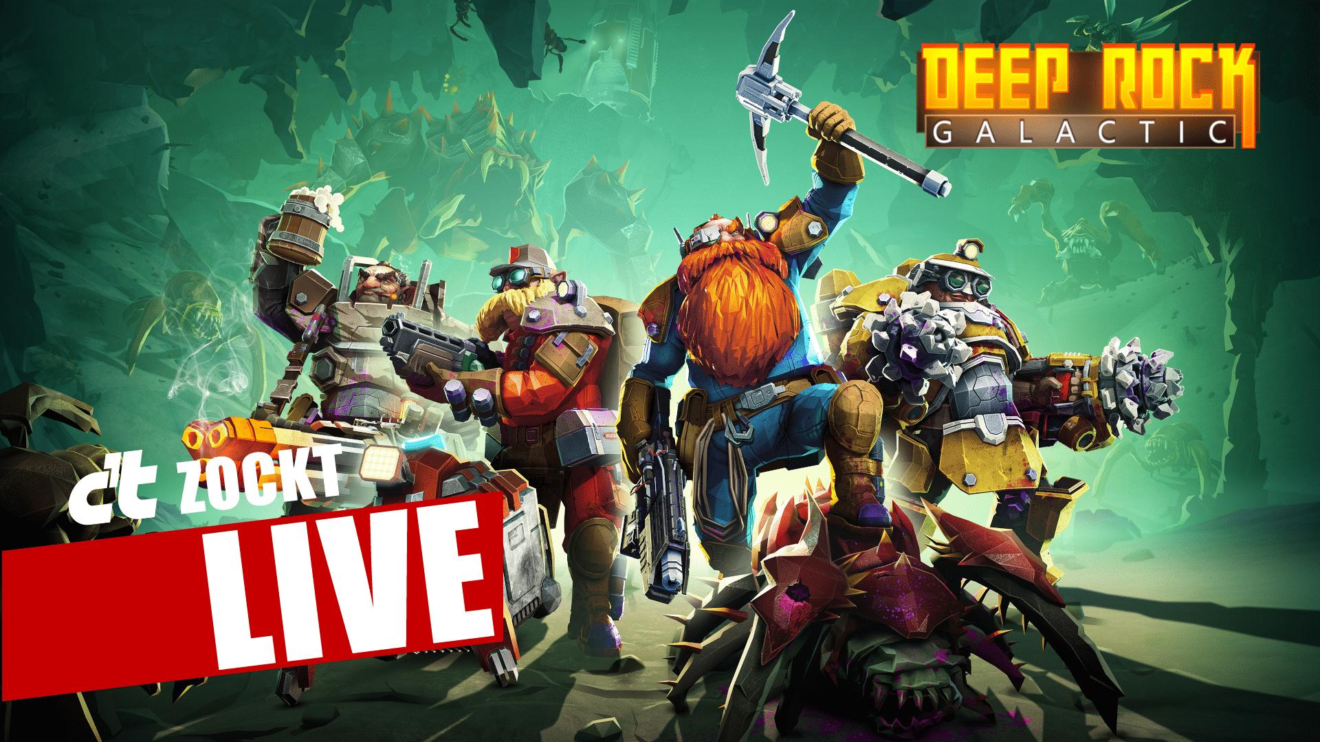 c't zockt LIVE: Deep Rock Galactic - Zwielicht, Zoff, Zwerge
