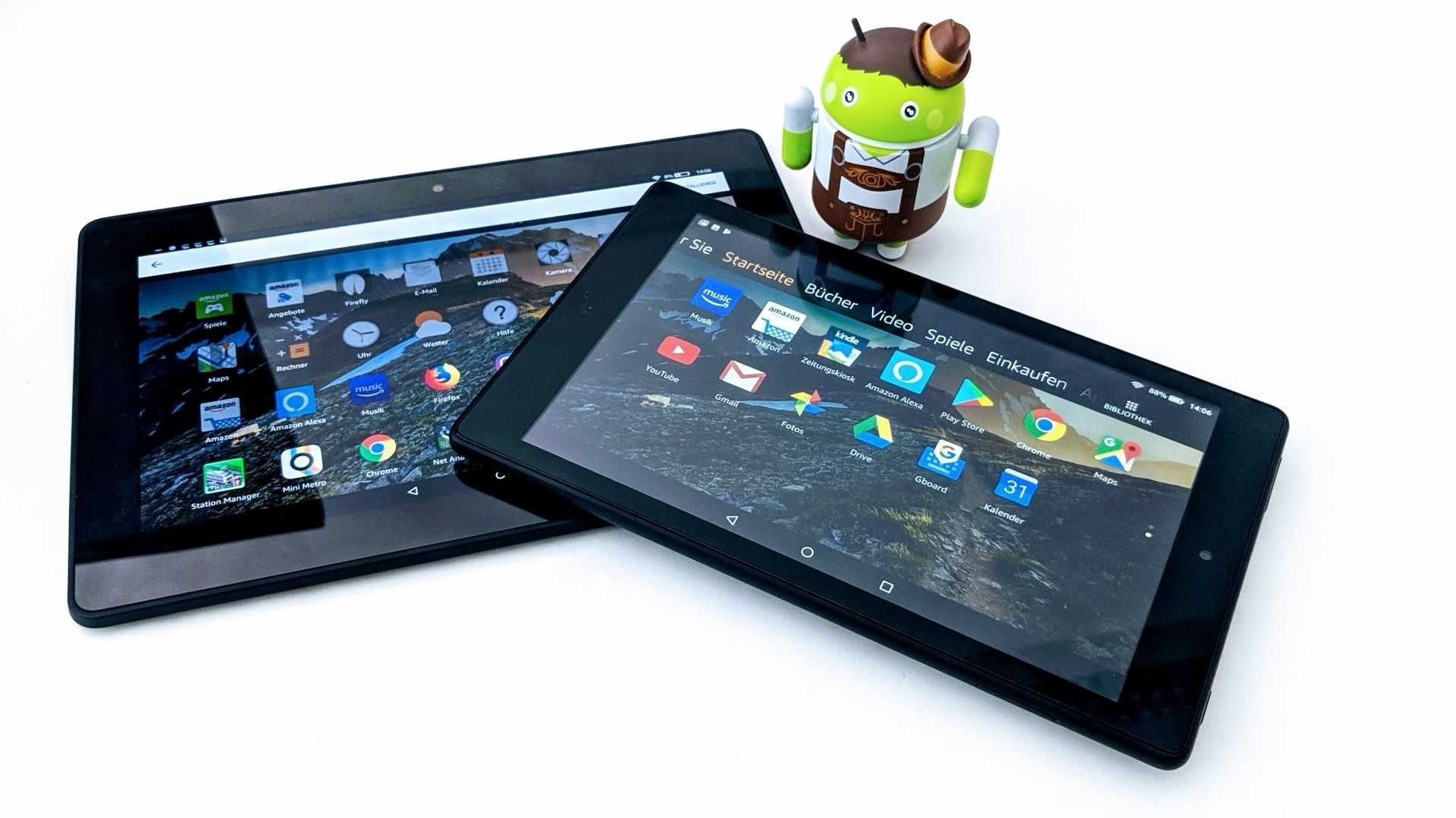 Amazons Fire Tablets: Google Play Store und Android-Apps installieren