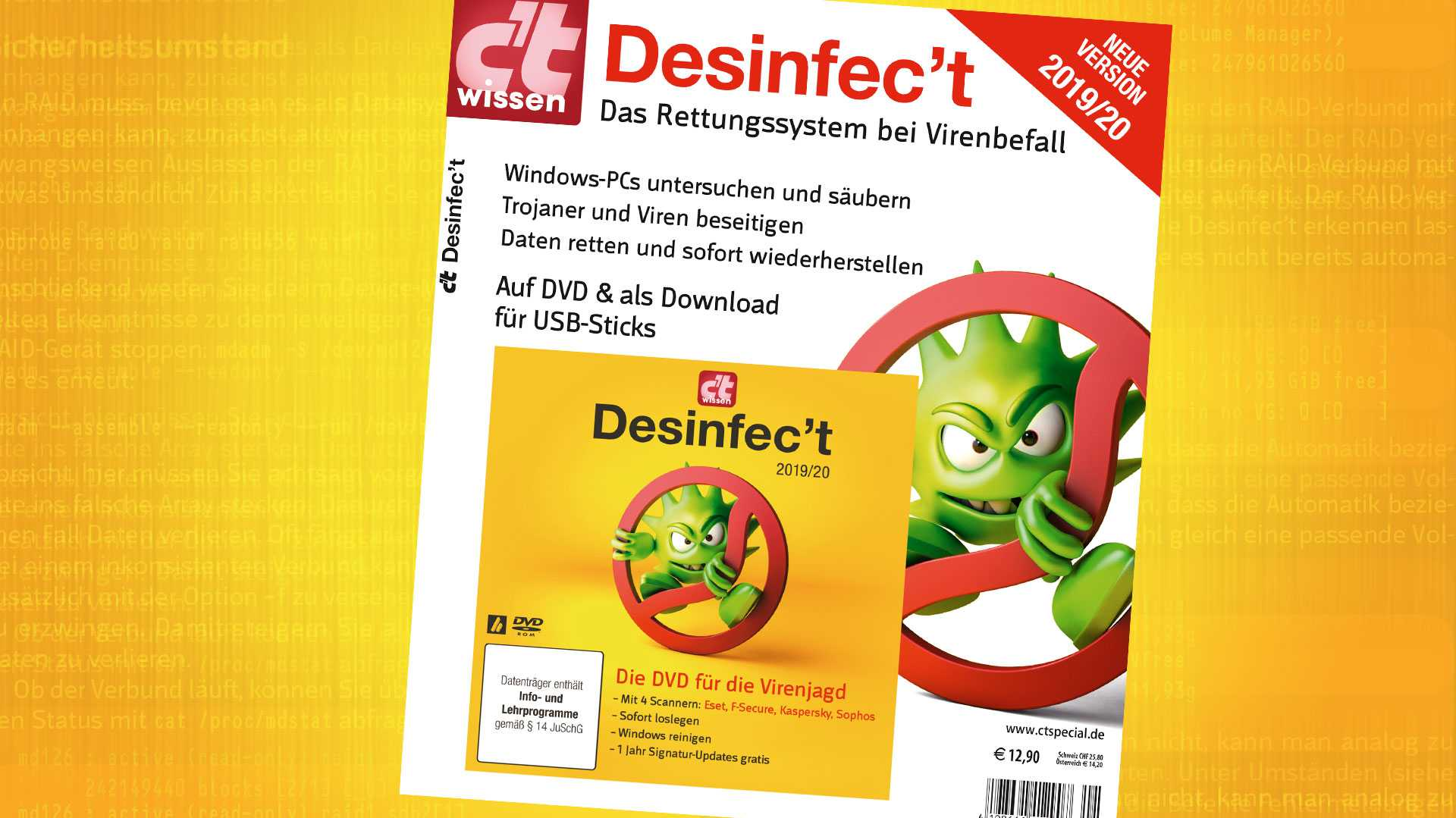 Jetzt downloaden: Sonderheft c't wissen mit Desinfec't 2019/20