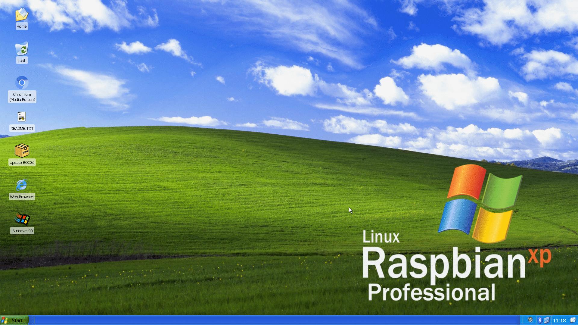 Raspi-Distribution im Windows-Look