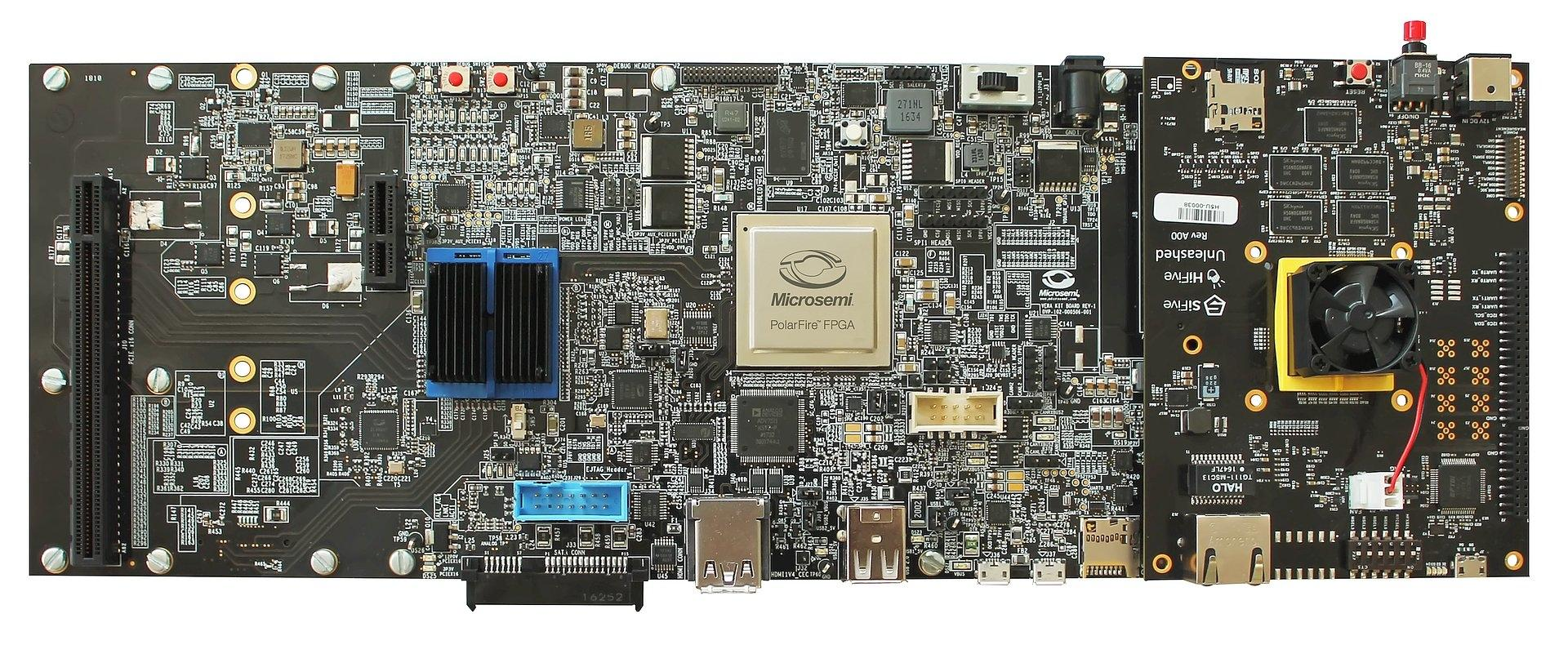 Microsemi HiFive Unleashed Expansion Board mit SiFive Unleashed