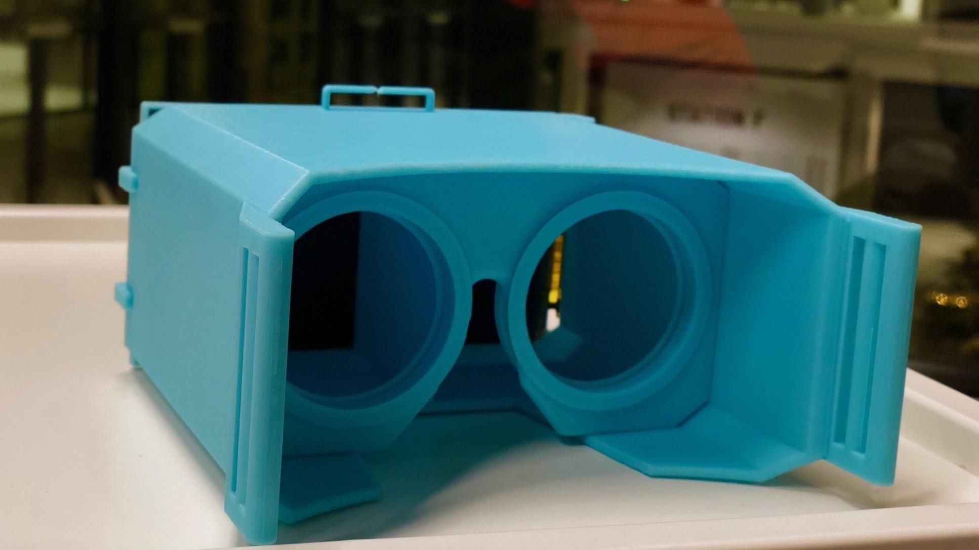Eine grüne 3D-Brille aus dem 3D-Drucker